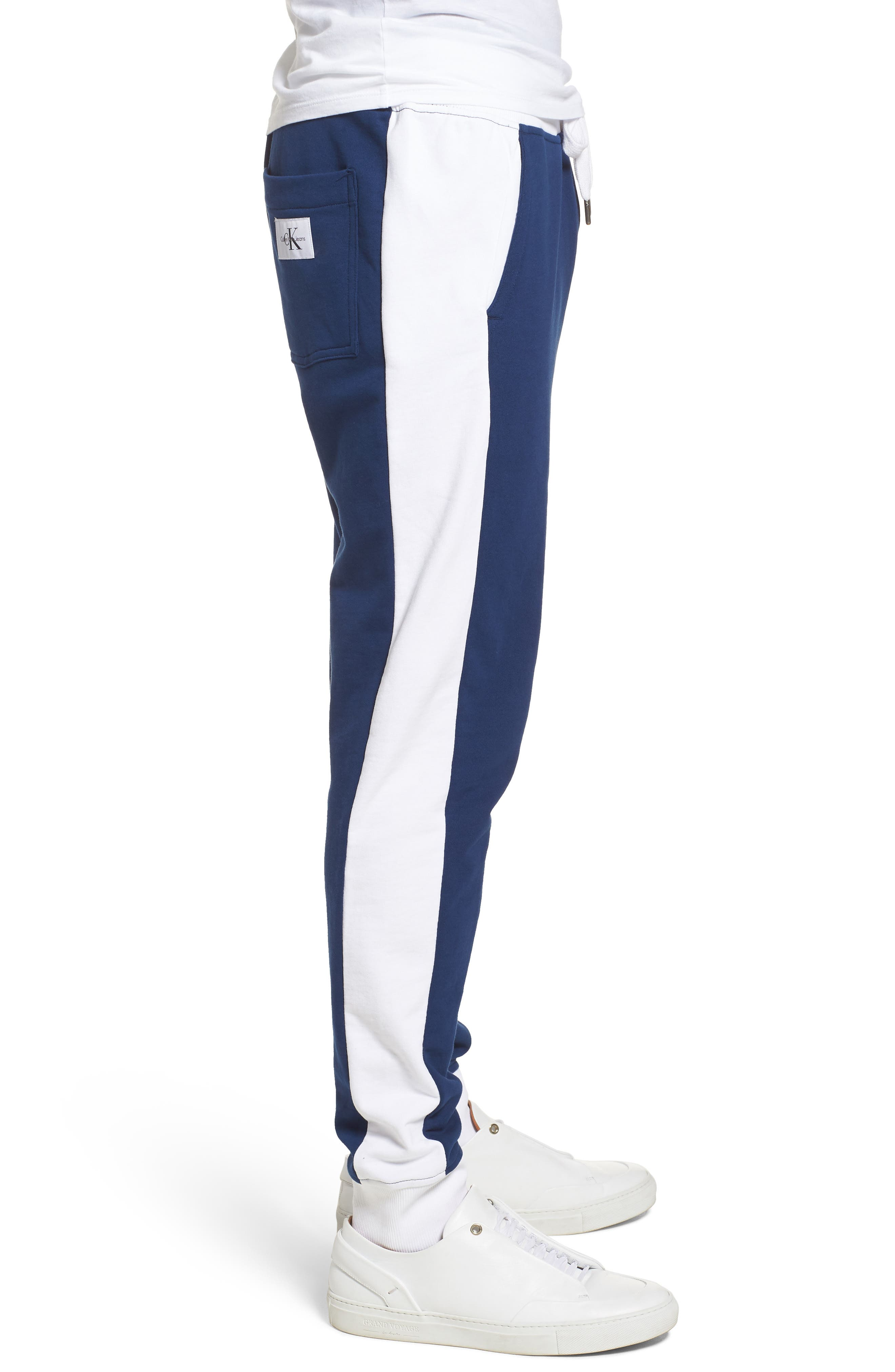 Athletic Collage Sweatpants,                             Alternate thumbnail 3, color,                             Night Rider