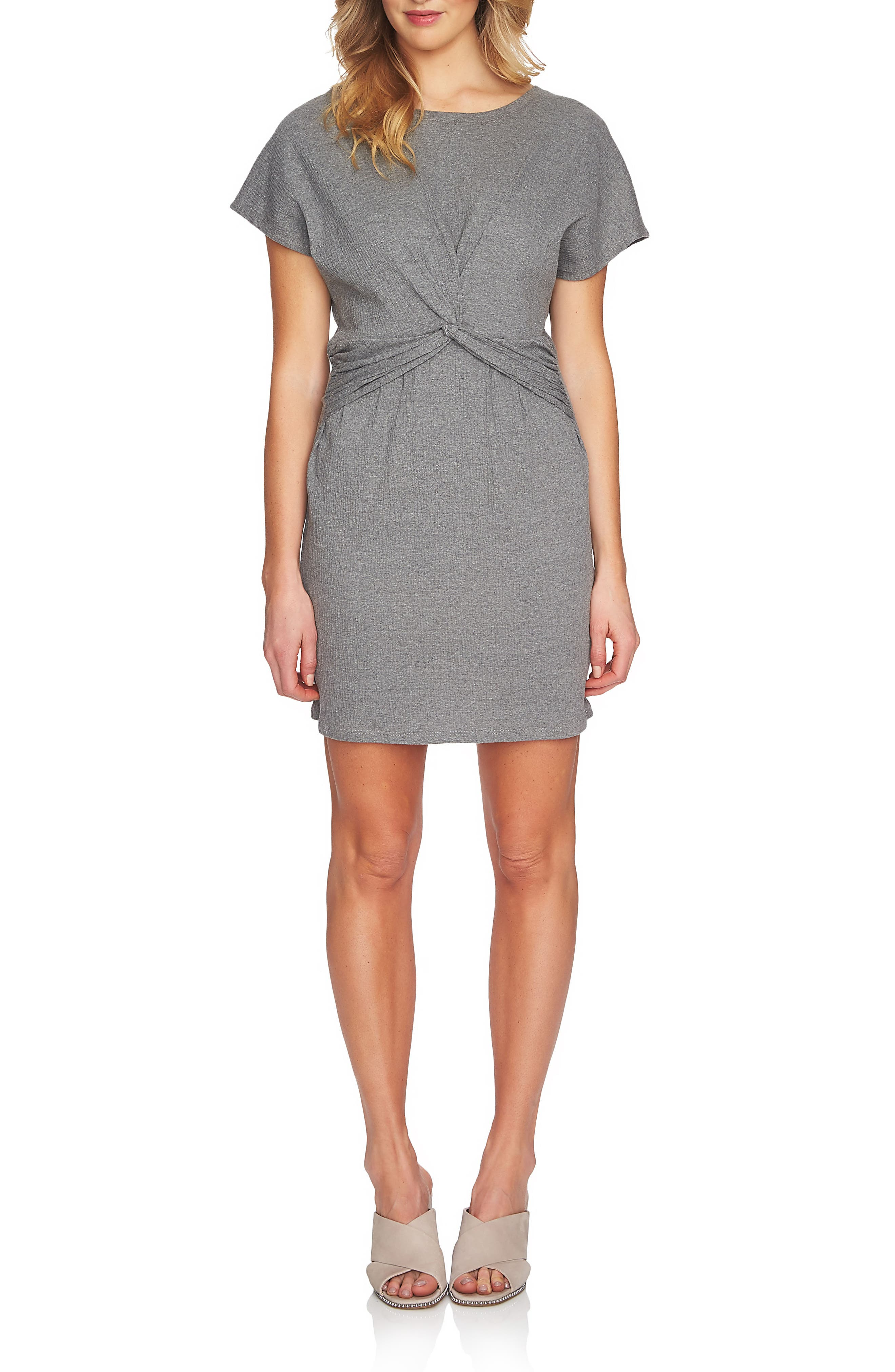 Twist Body-Con Dress,                             Main thumbnail 1, color,                             078 Light Heather Grey