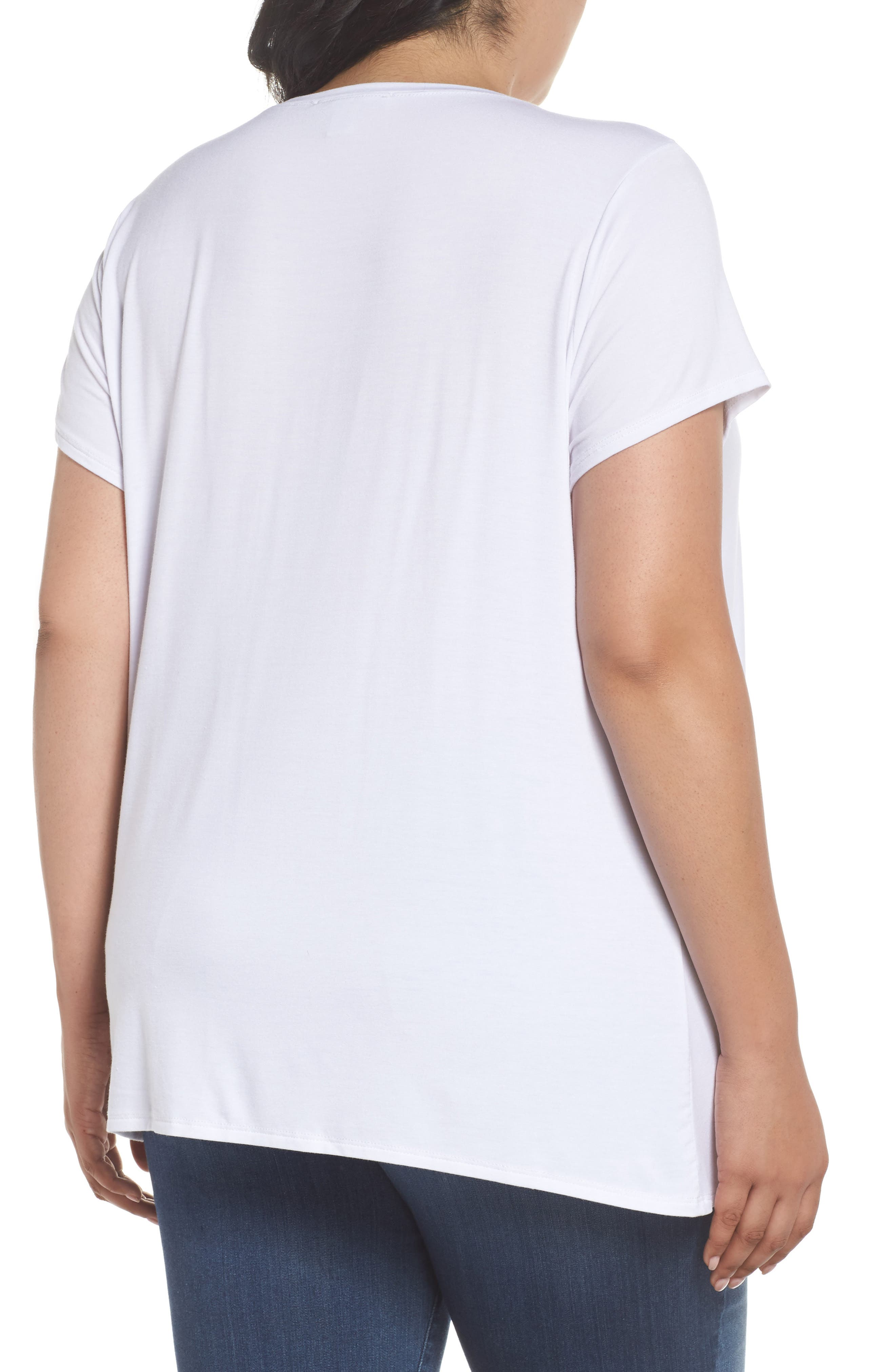 Cinch Tee,                             Alternate thumbnail 2, color,                             White