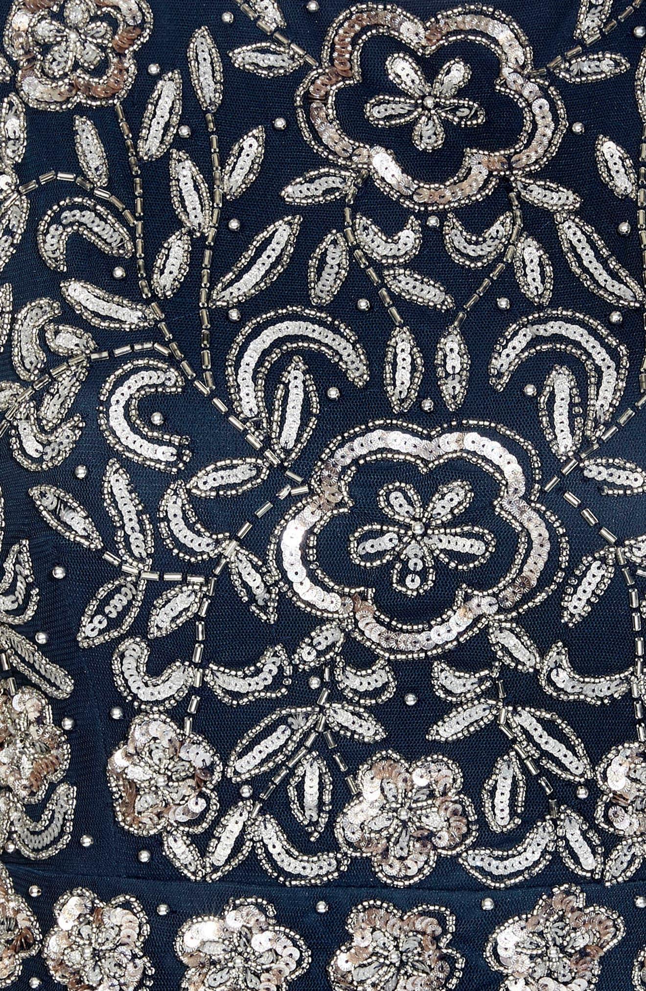 Memphis Fit & Flare Dress,                             Alternate thumbnail 4, color,                             Navy