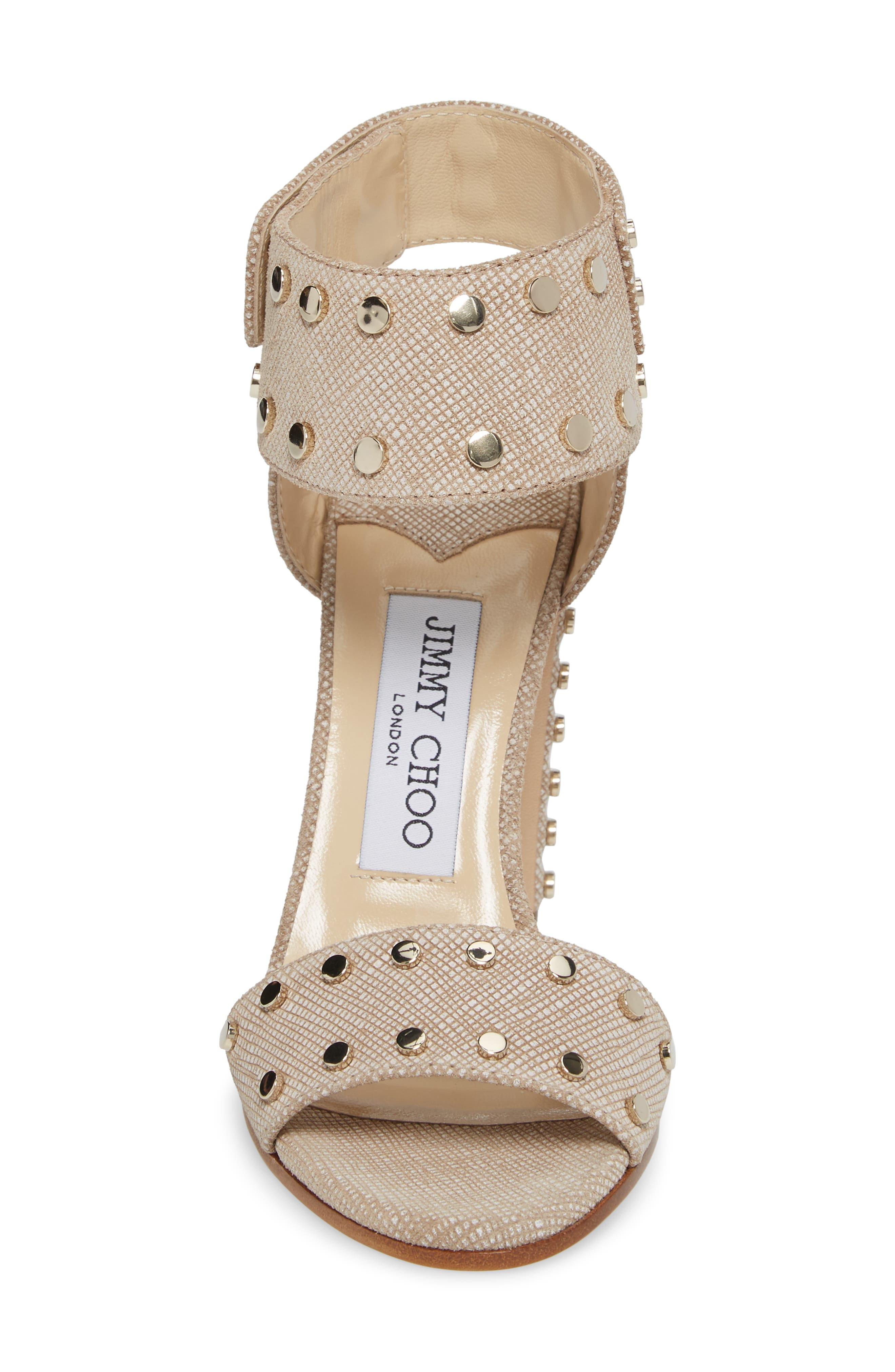 Veto Studded Ankle Cuff Sandal,                             Alternate thumbnail 4, color,                             Chai/ Gold