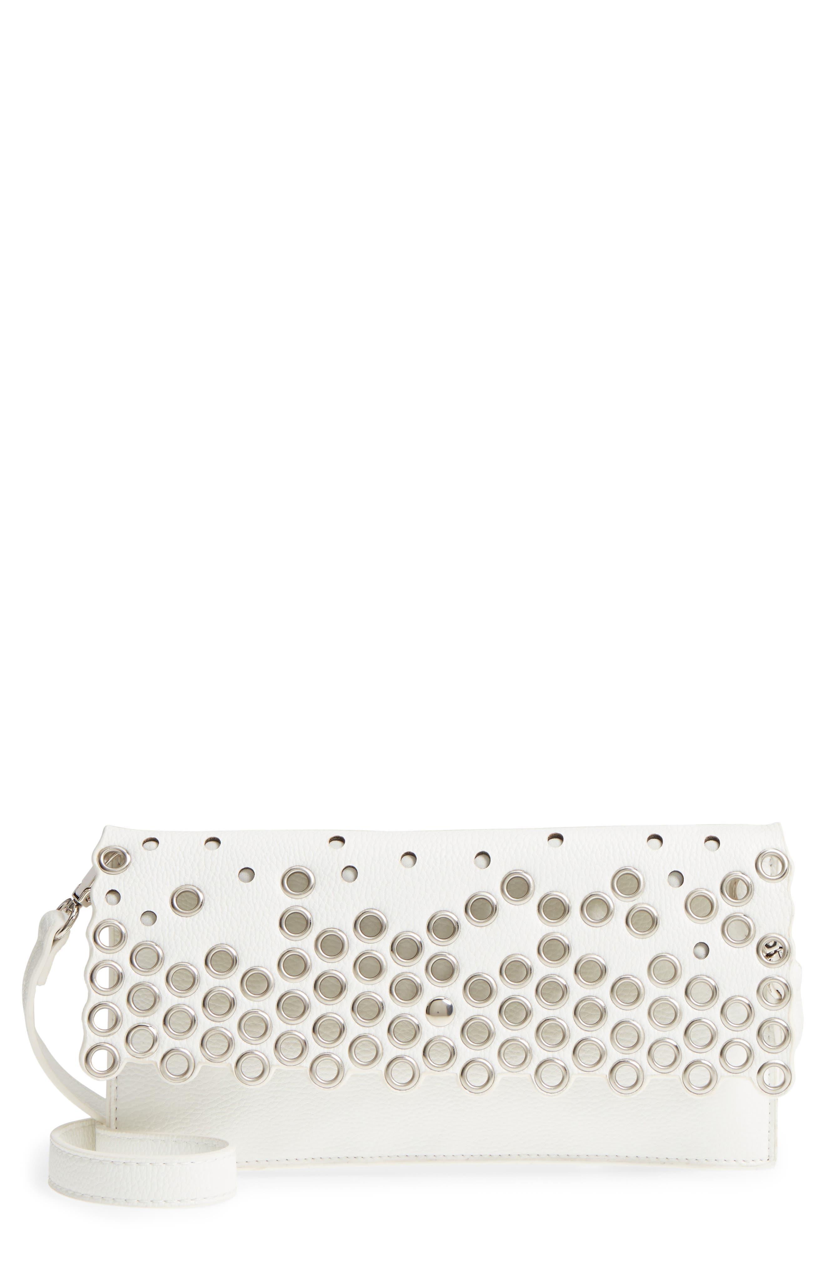 Grommet Convertible Crossbody Bag,                             Main thumbnail 1, color,                             White