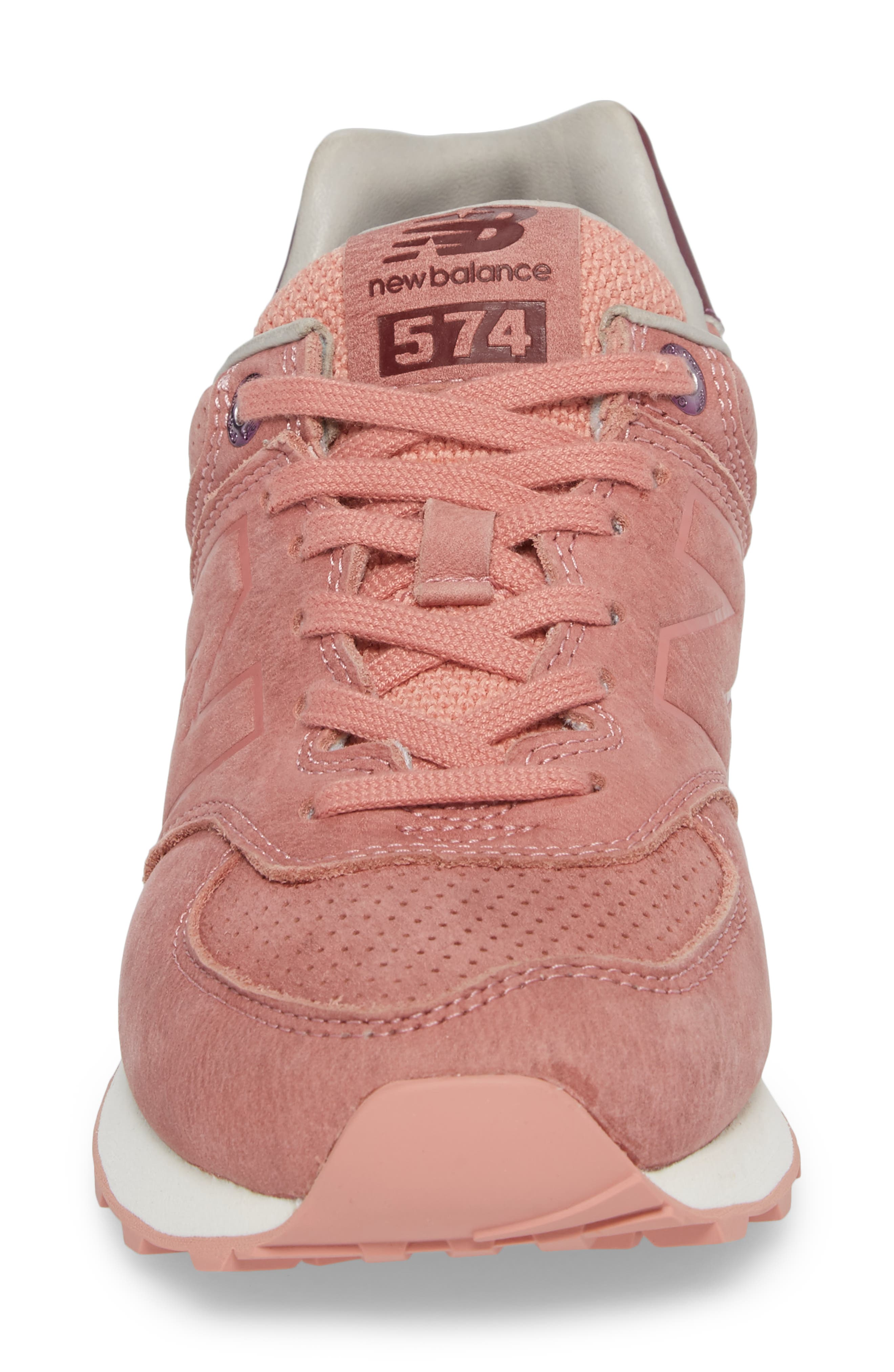 574 Sneaker,                             Alternate thumbnail 4, color,                             Dusted Peach
