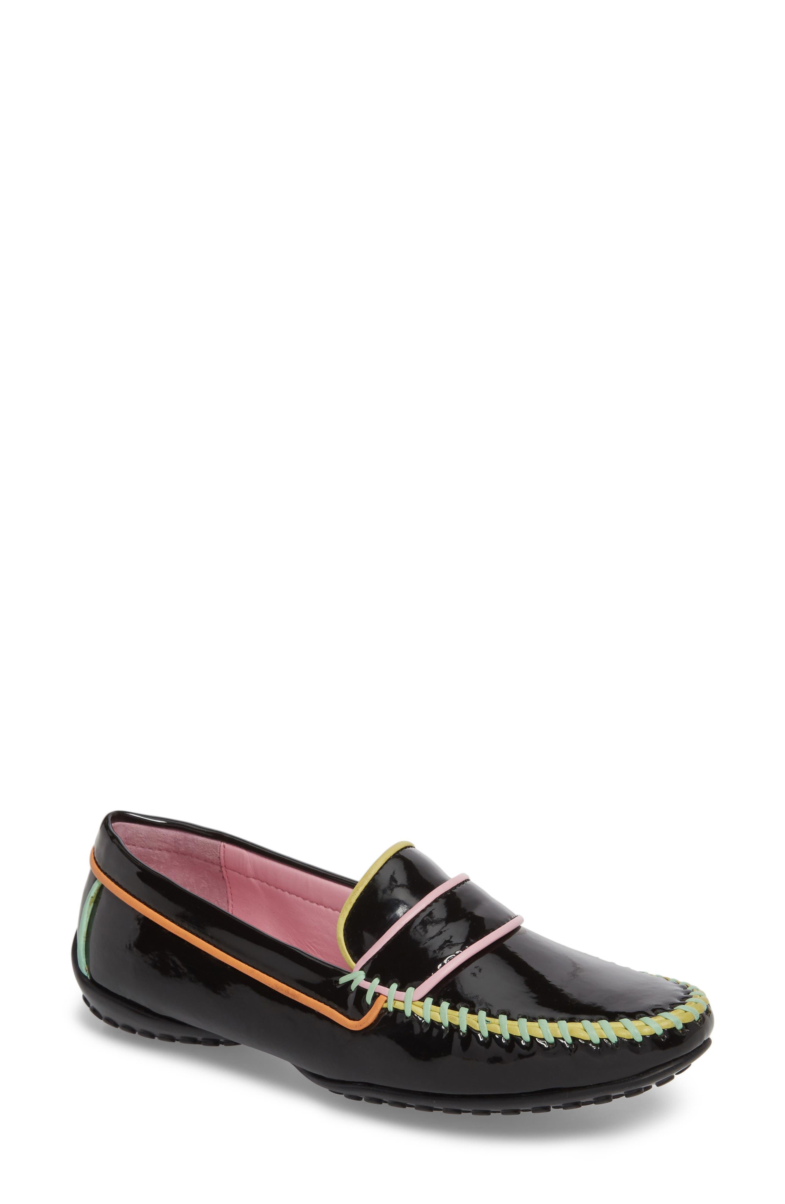 Moccasin Loafer,                         Main,                         color, Black/ Black Patent
