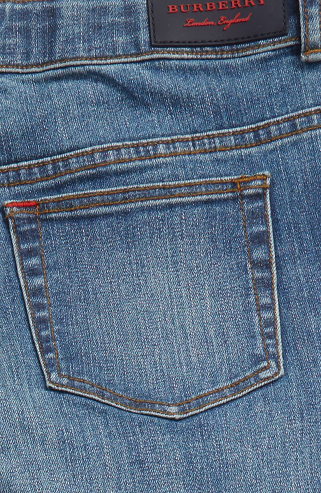 Skinny Jeans,                             Alternate thumbnail 3, color,                             Medium Indigo