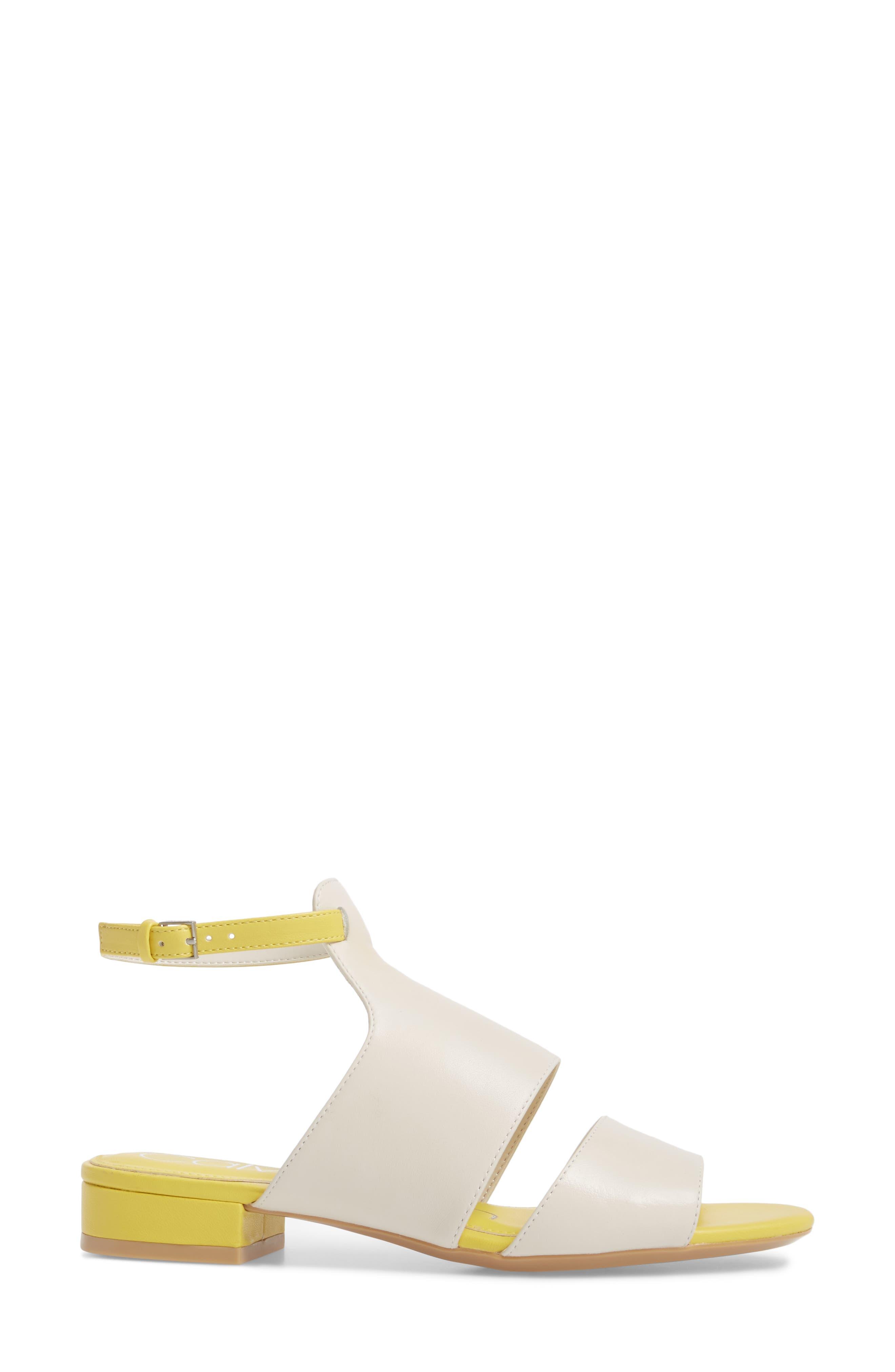 Fernarda Sandal,                             Alternate thumbnail 3, color,                             Soft White Leather