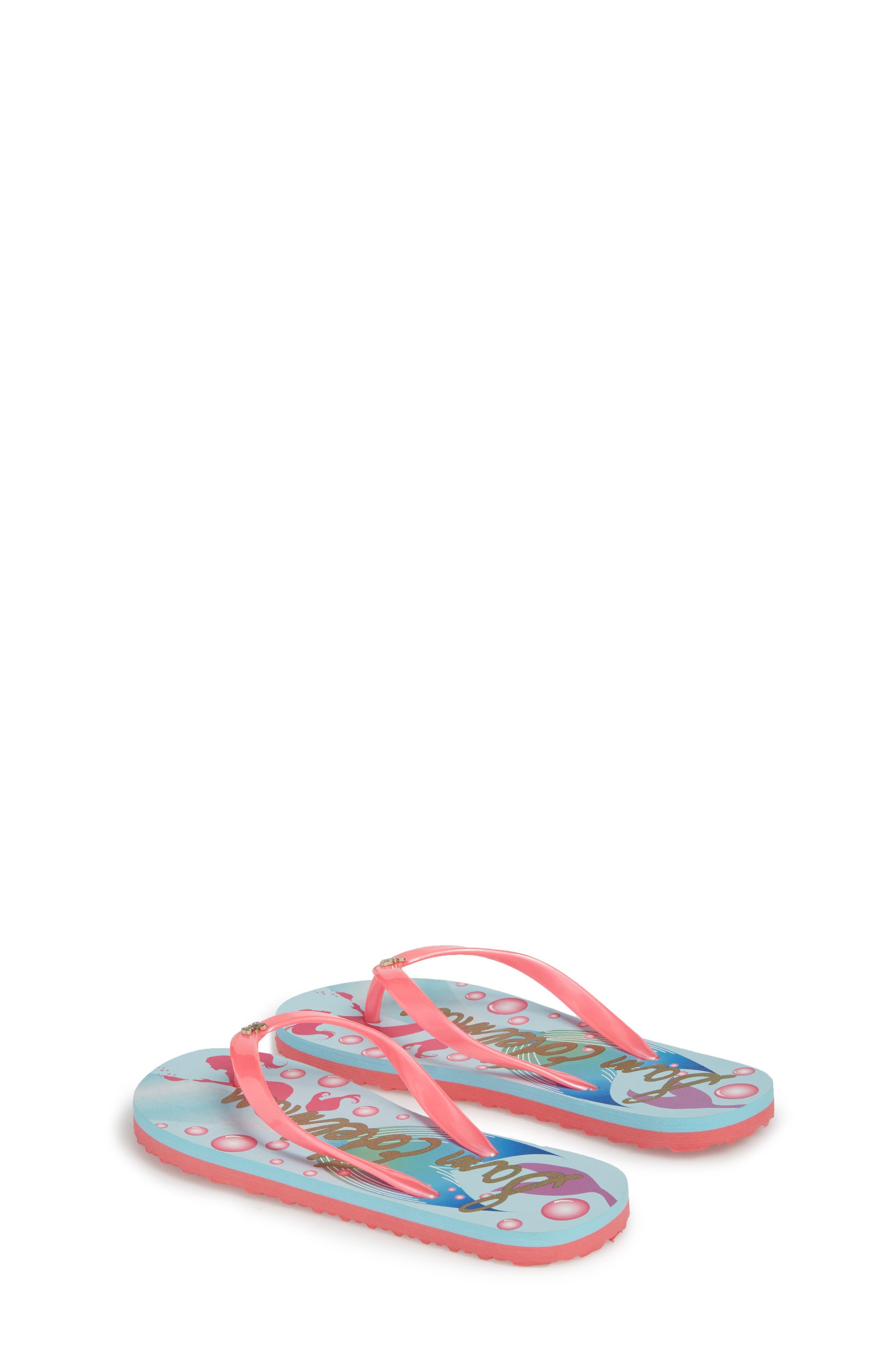 Mandy Flip Flop,                             Alternate thumbnail 2, color,                             Mermaid Turquoise/ Pink