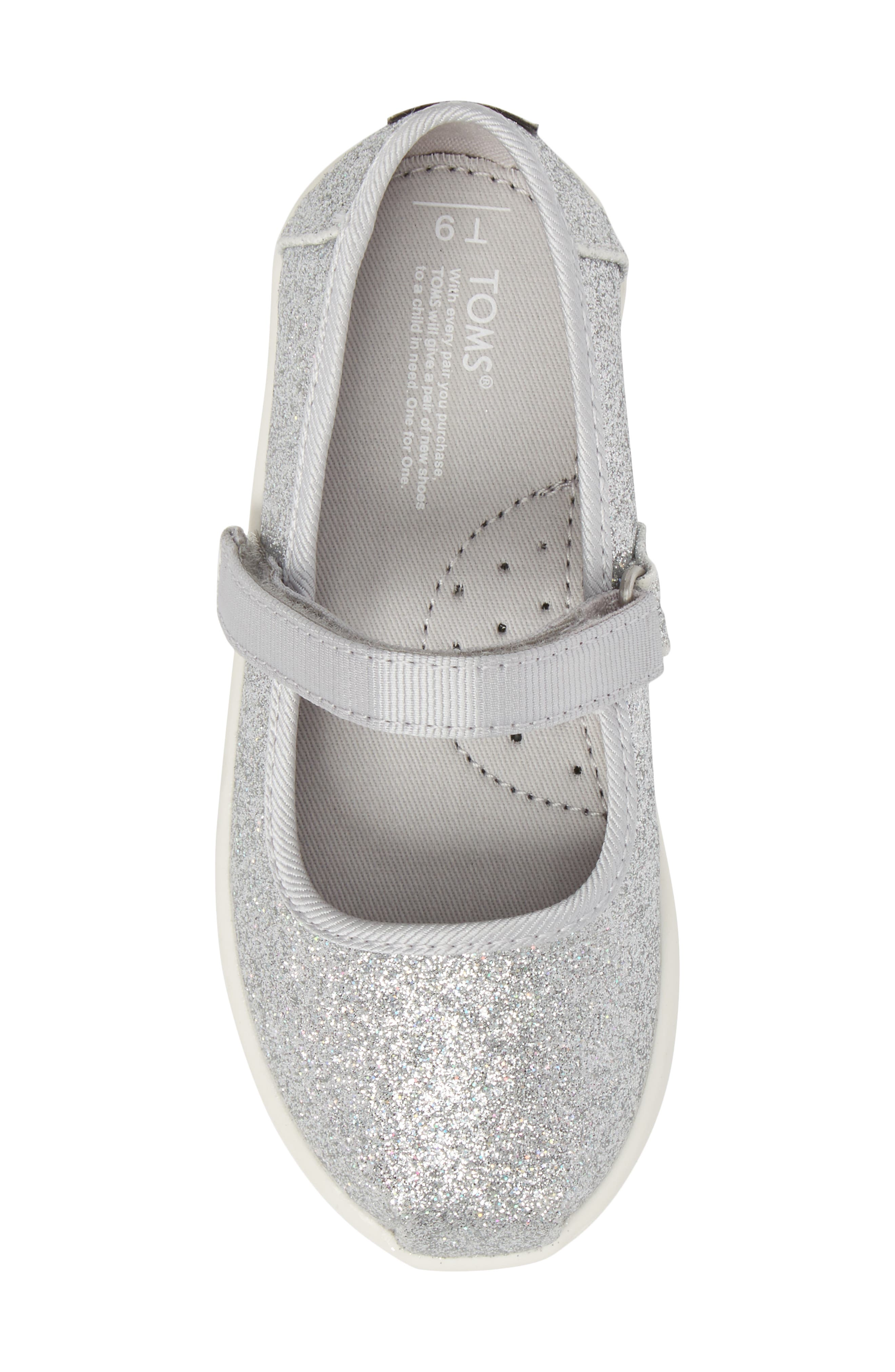 Mary Jane Sneaker,                             Alternate thumbnail 5, color,                             Silver Iridescent Glimmer