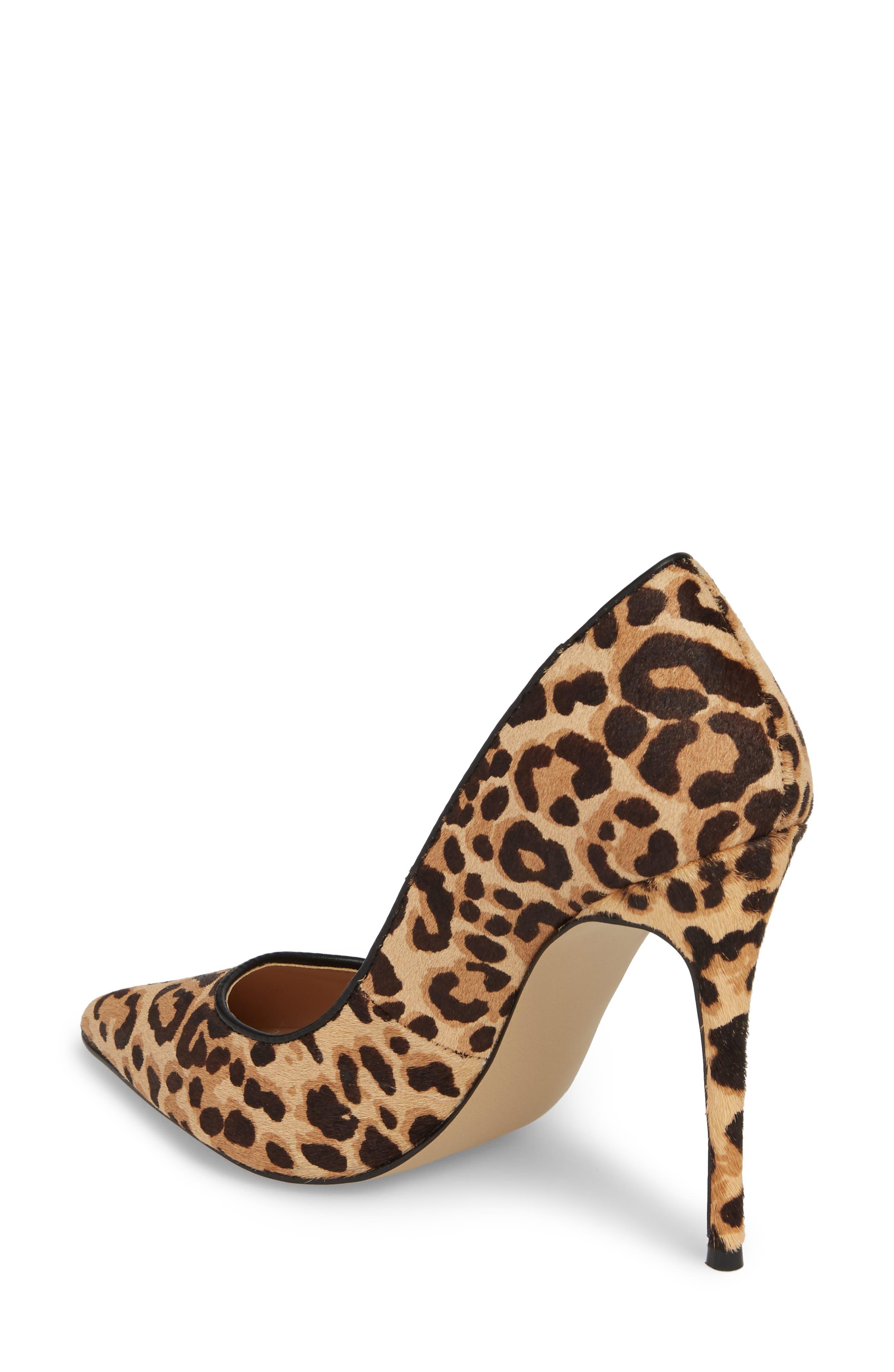 Daisie Genuine Calf Hair Pointy-Toe Pump,                             Alternate thumbnail 2, color,                             Leopard