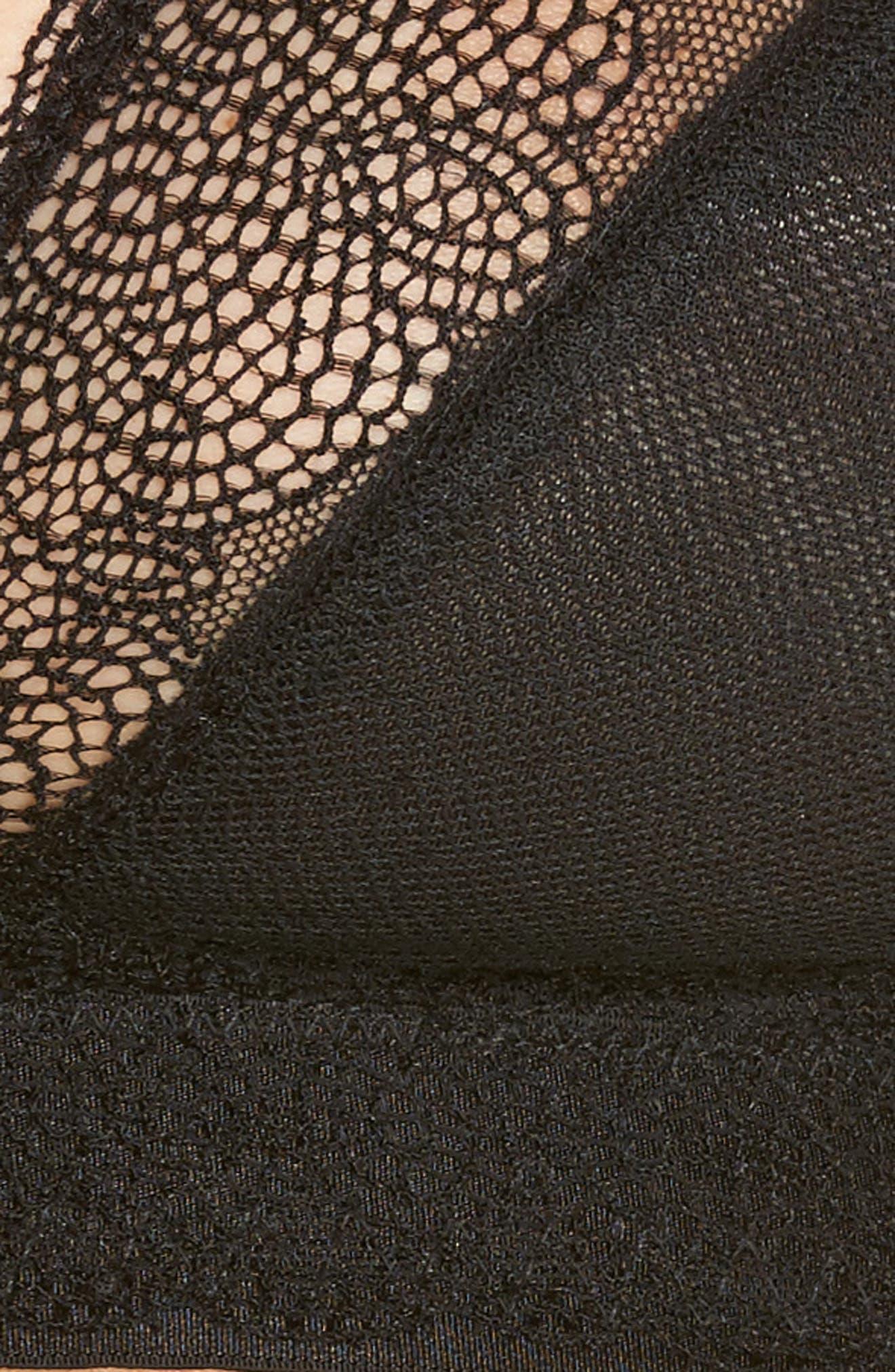Le Marais Lace Bralette,                             Alternate thumbnail 8, color,                             Black