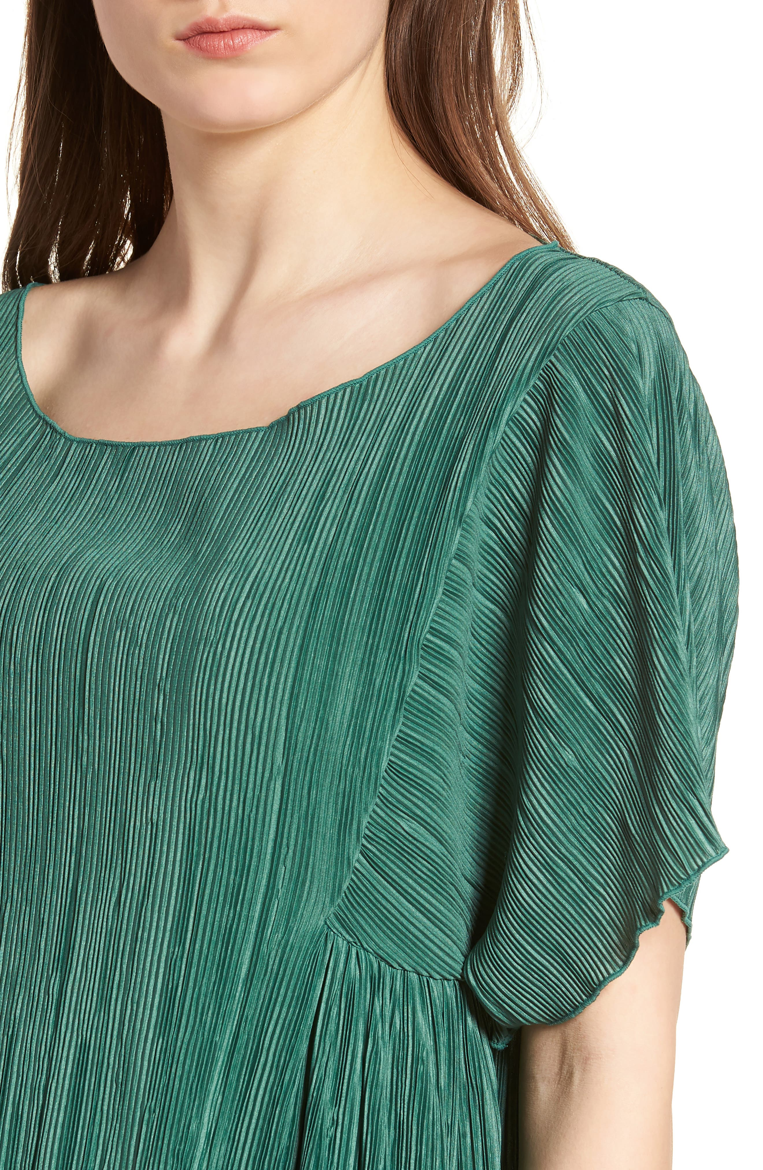 Micropleat Top,                             Alternate thumbnail 4, color,                             Dark Green