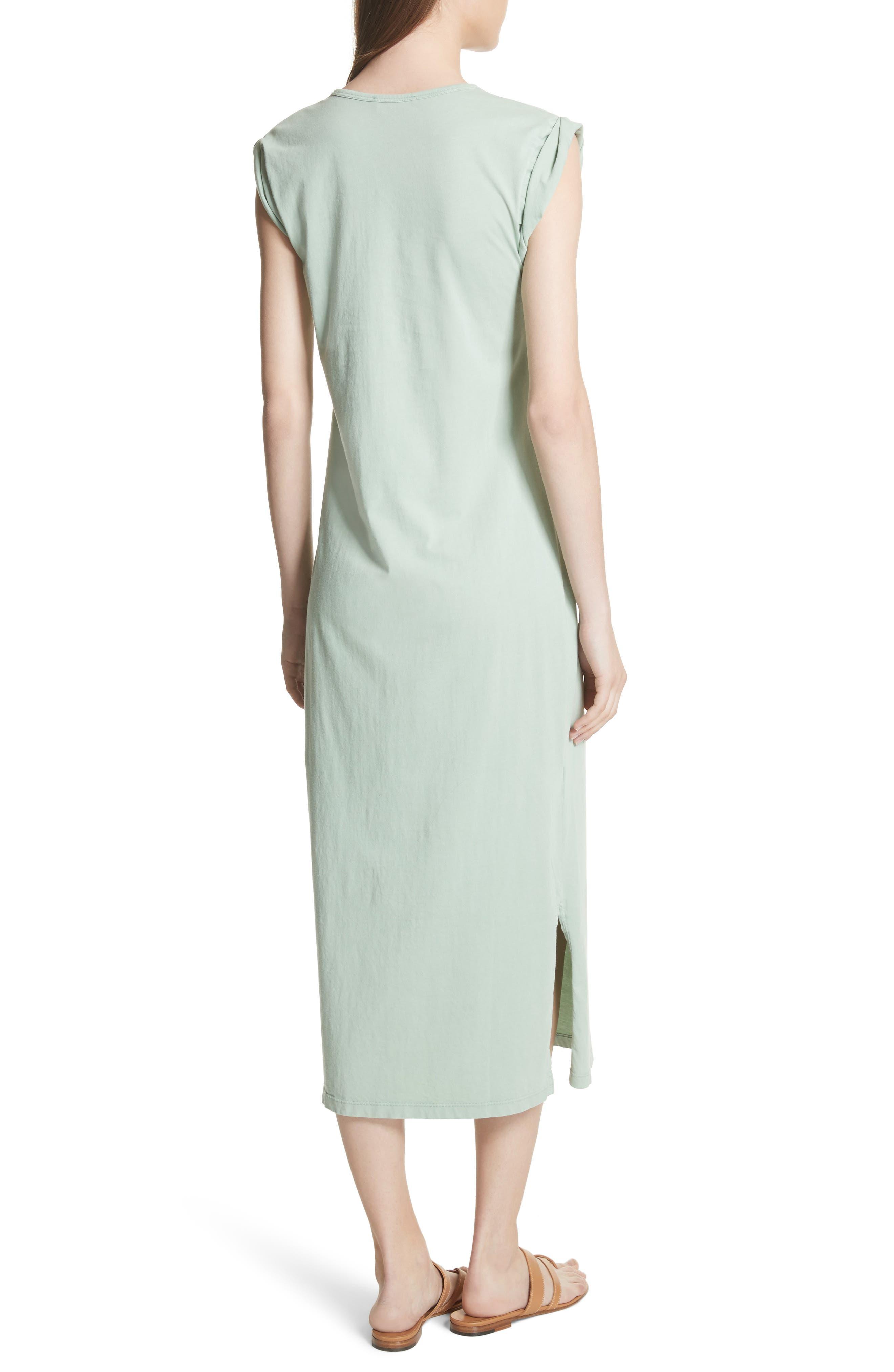 Muscle P Relaxed T-Shirt Dress,                             Alternate thumbnail 2, color,                             Light Moss