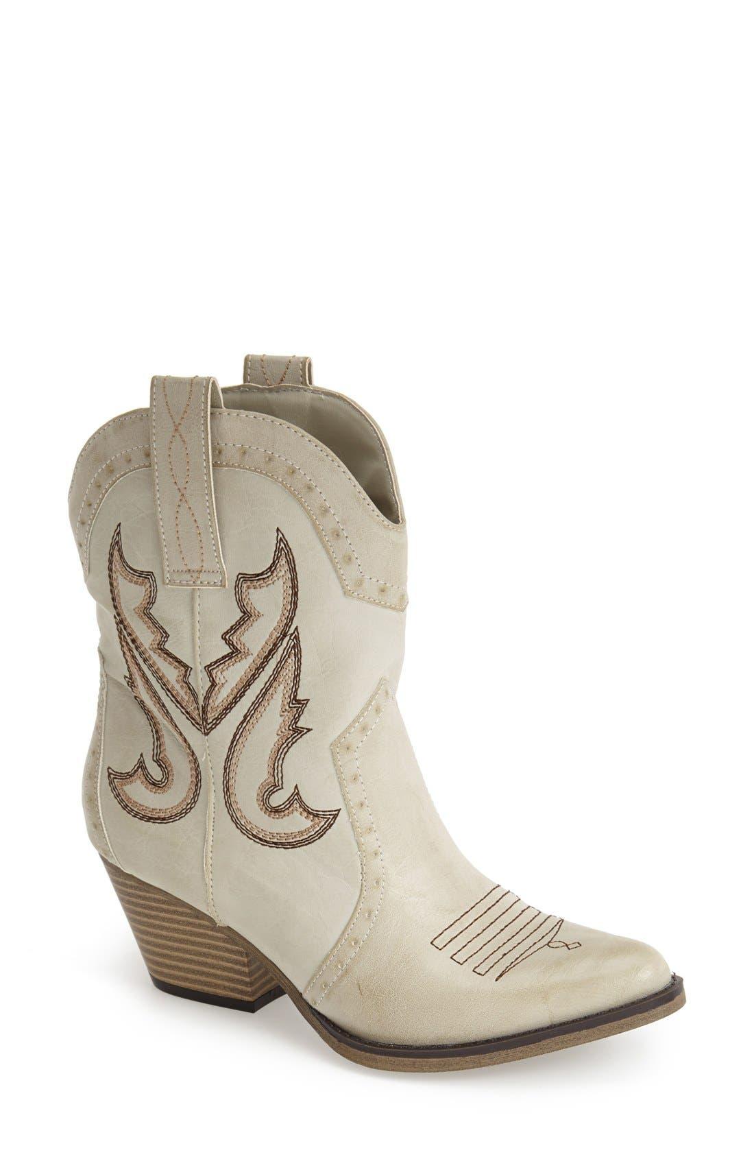 Main Image - MIA 'Horseback' Western Bootie (Women)