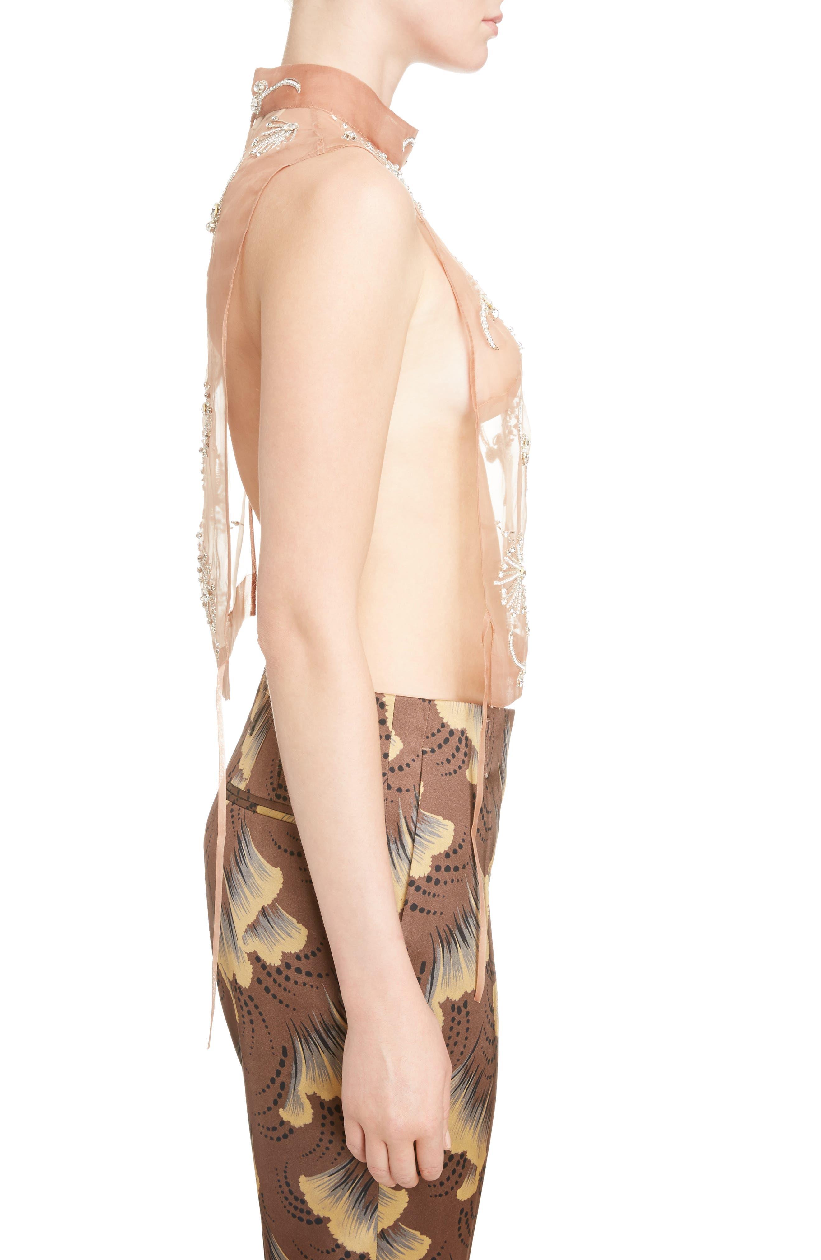Alternate Image 4  - Dries Van Noten Sheer Embellished Silk Tank