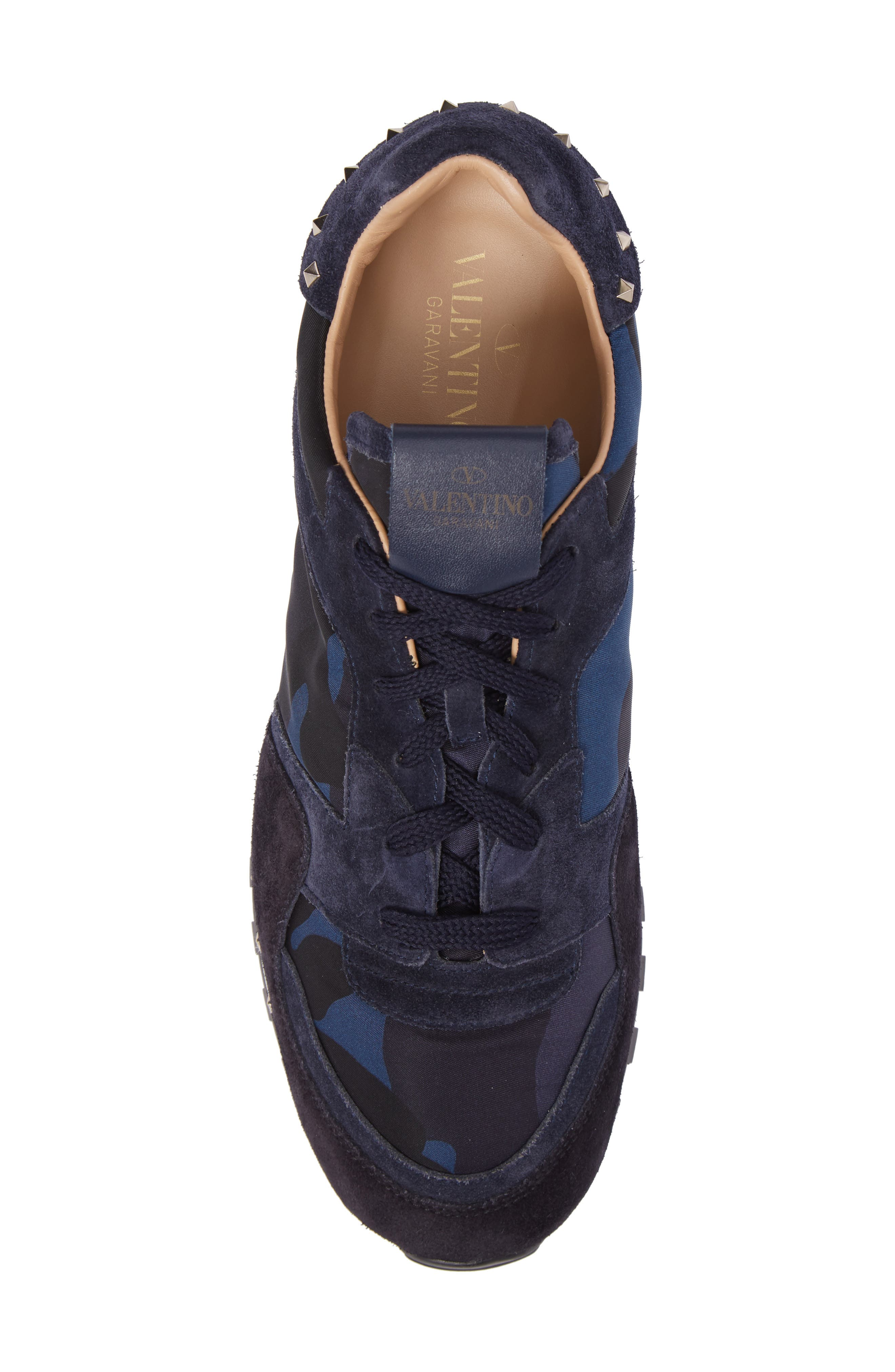 Camo Rockstud Sneaker,                             Alternate thumbnail 5, color,                             Marine/ Nero/ Dark Blue