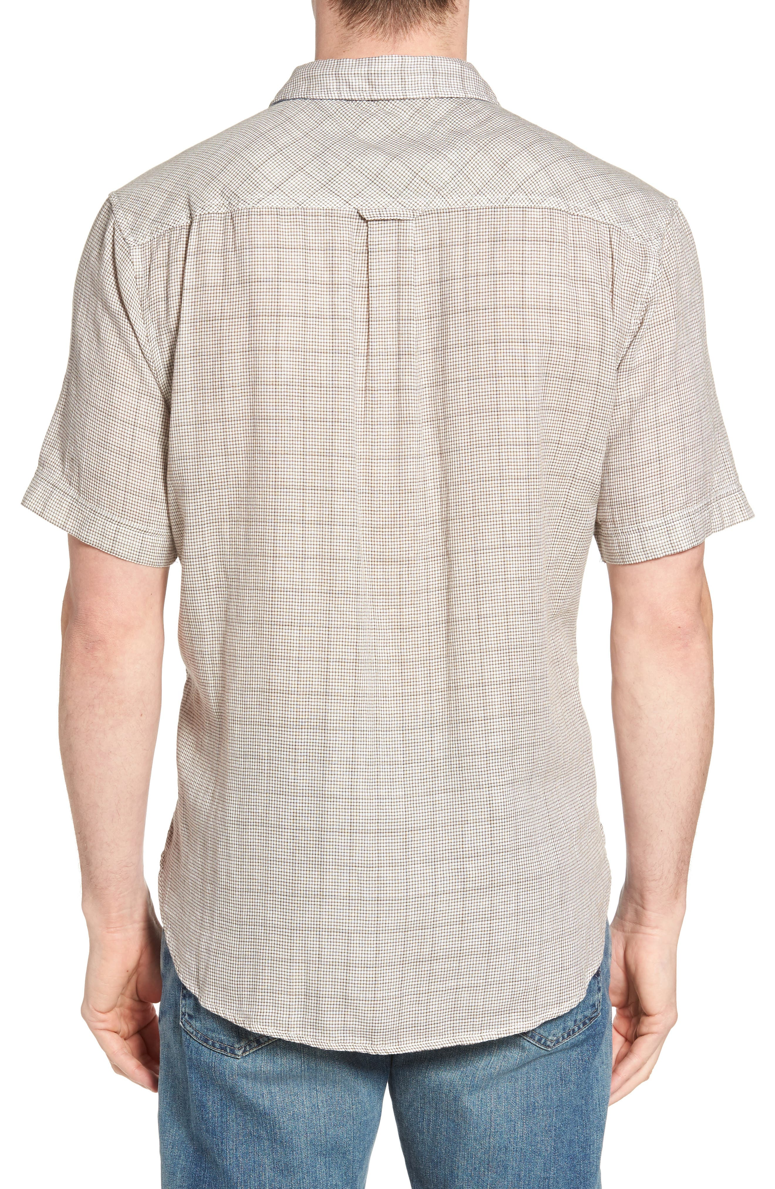 Crossroads Check Sport Shirt,                             Alternate thumbnail 2, color,                             Brown