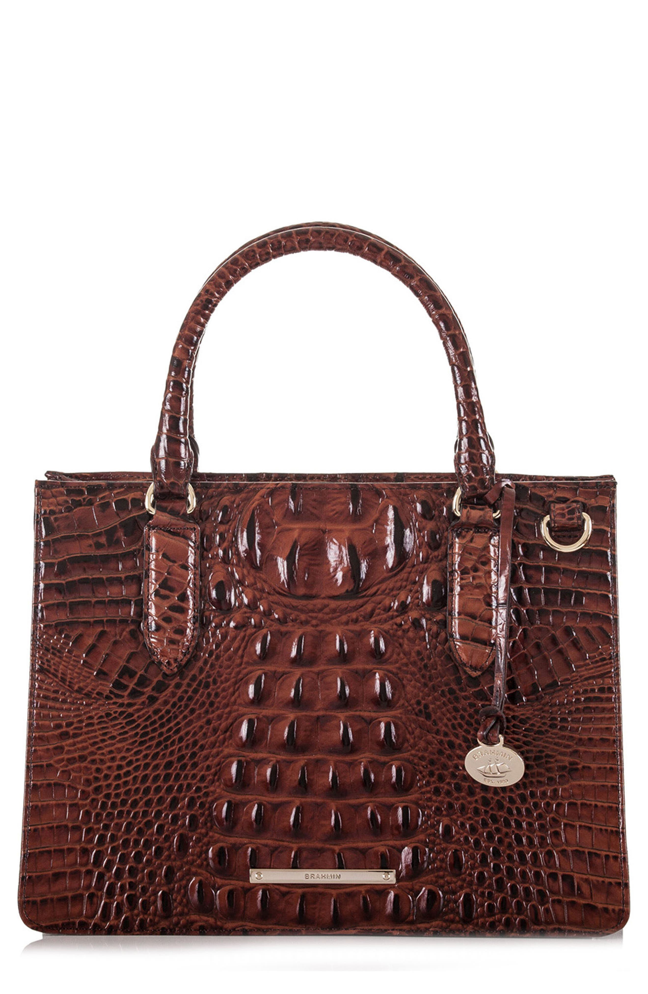 Alternate Image 1 Selected - Brahmin Small Camille Embossed Leather Satchel