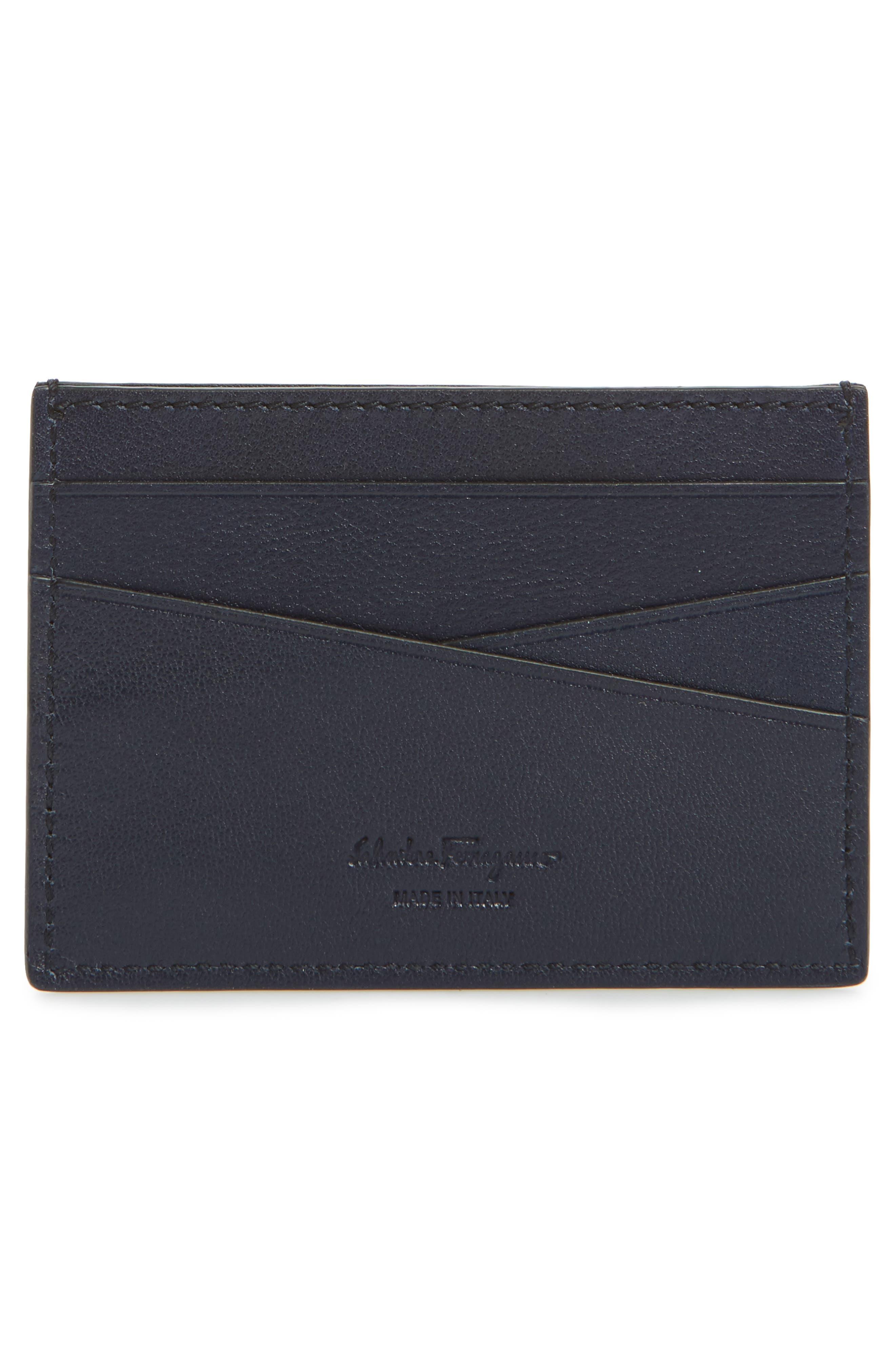 Revival Leather Card Case,                             Alternate thumbnail 2, color,                             Blue