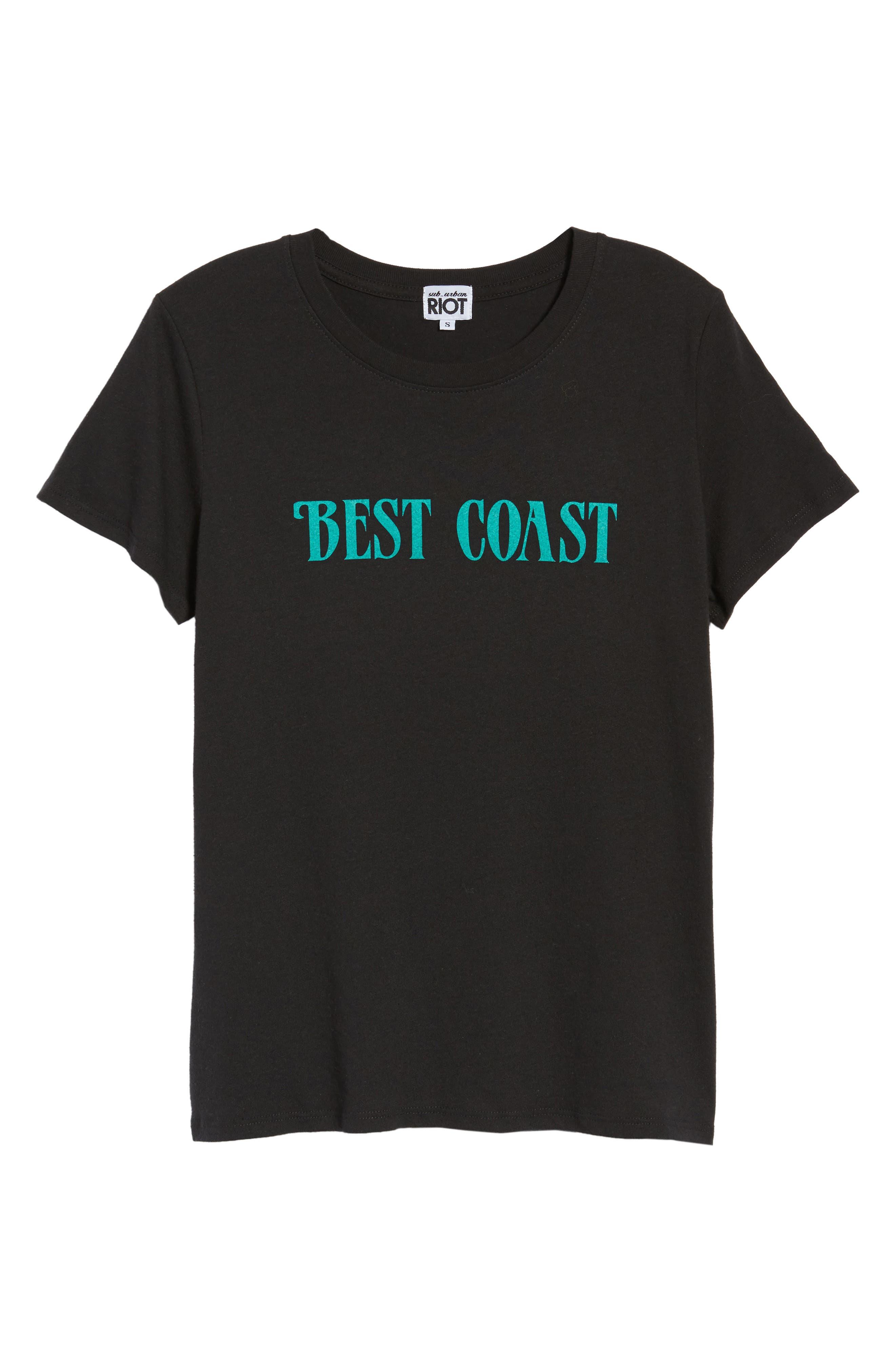 Best Coast Tee,                             Alternate thumbnail 7, color,                             Black