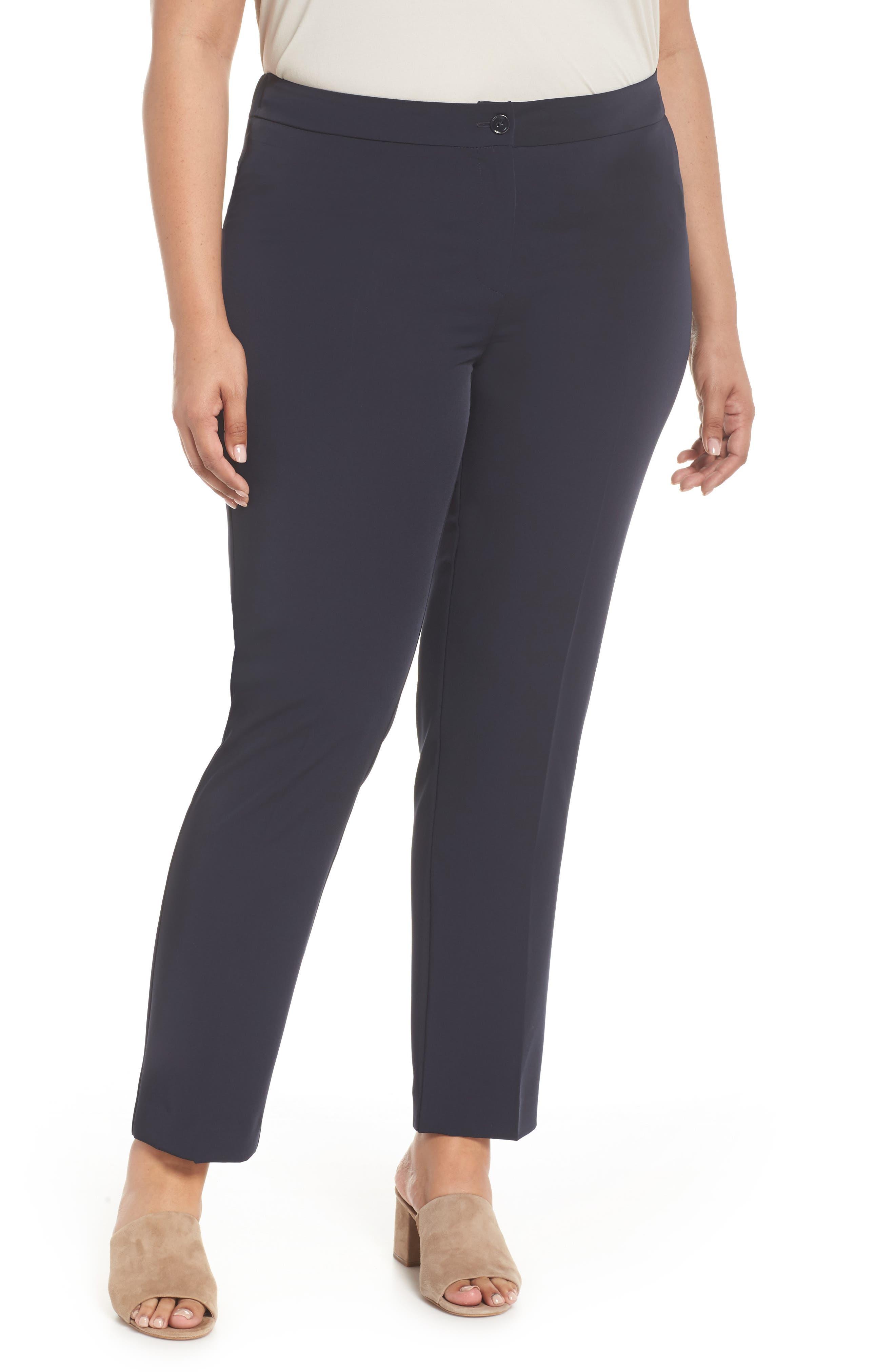 Slim Leg Pants,                         Main,                         color, Dark Navy