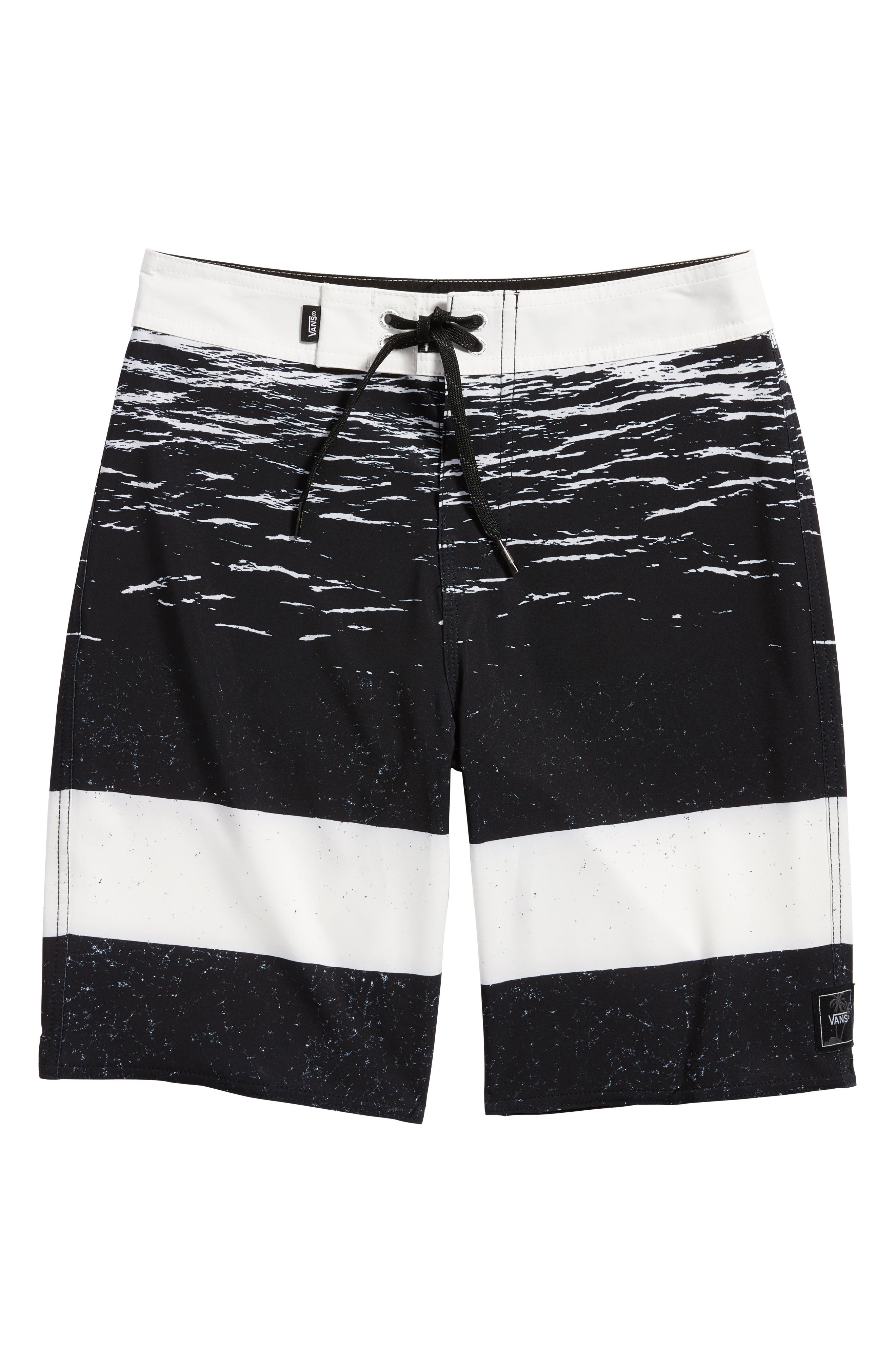 Era Board Shorts,                         Main,                         color, White Dark Water