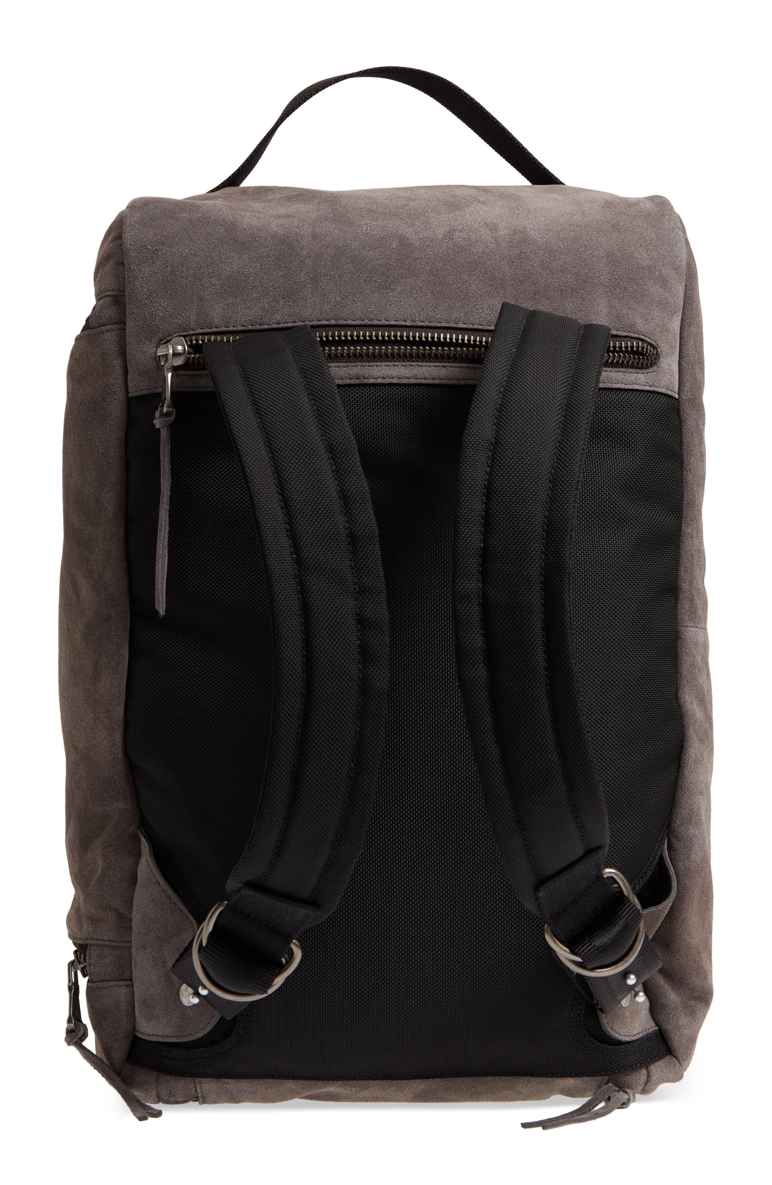 Brooklyn Suede Convertible Duffel Bag,                             Alternate thumbnail 3, color,                             Lead
