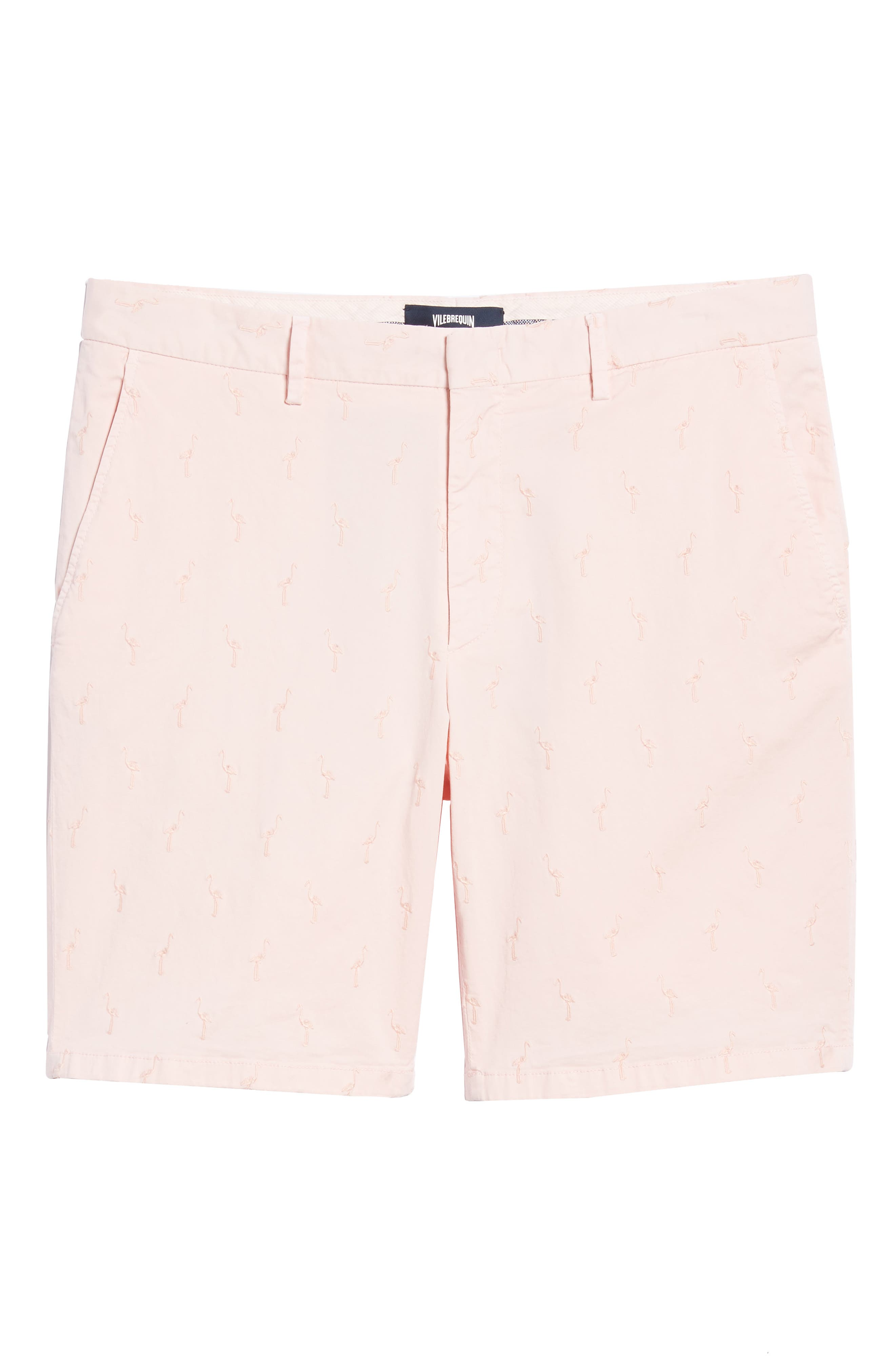 Embroidered Twill Shorts,                             Alternate thumbnail 6, color,                             Pink Sand