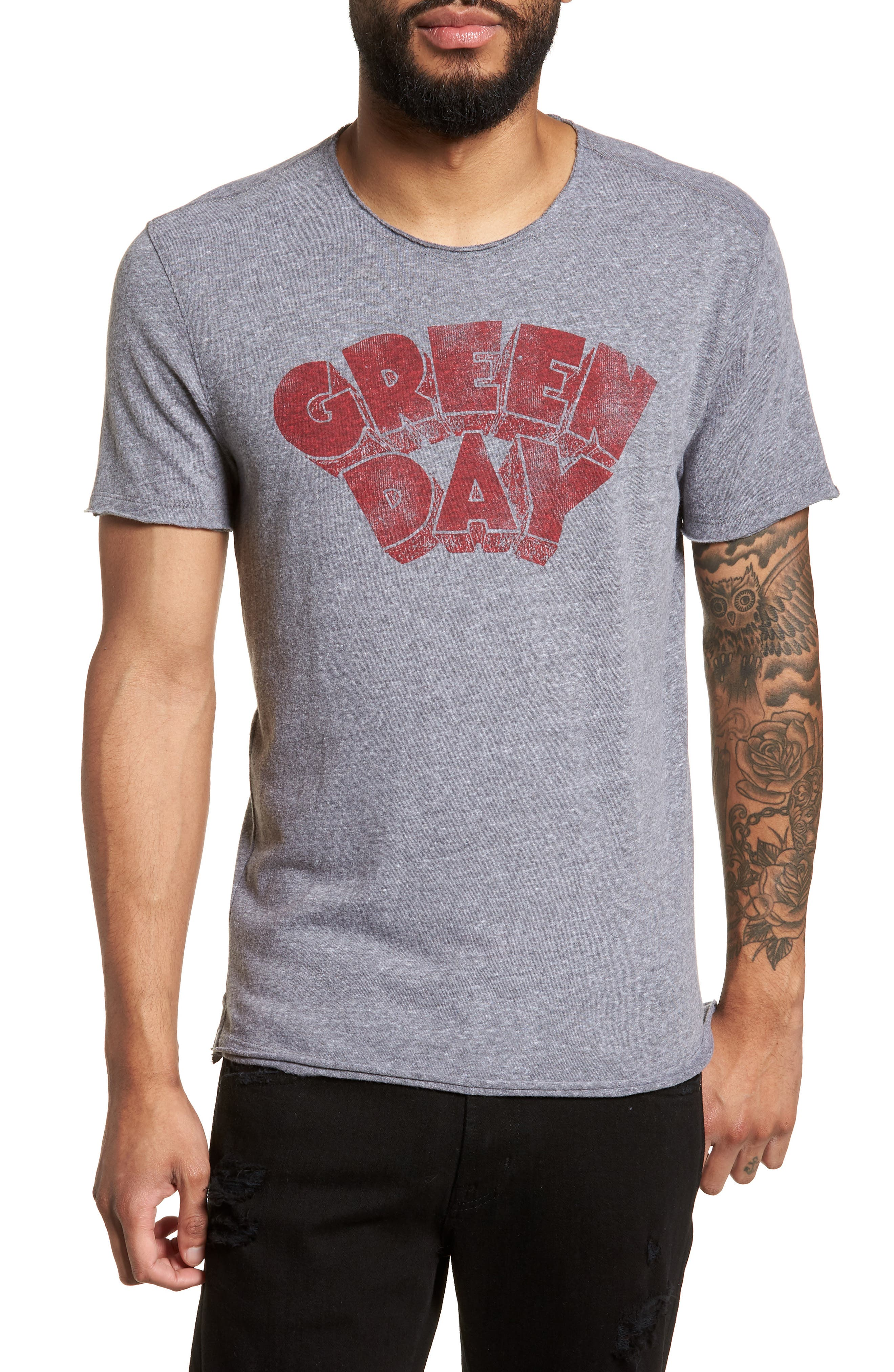 Green Day Regular Fit T-Shirt,                         Main,                         color, Hematite
