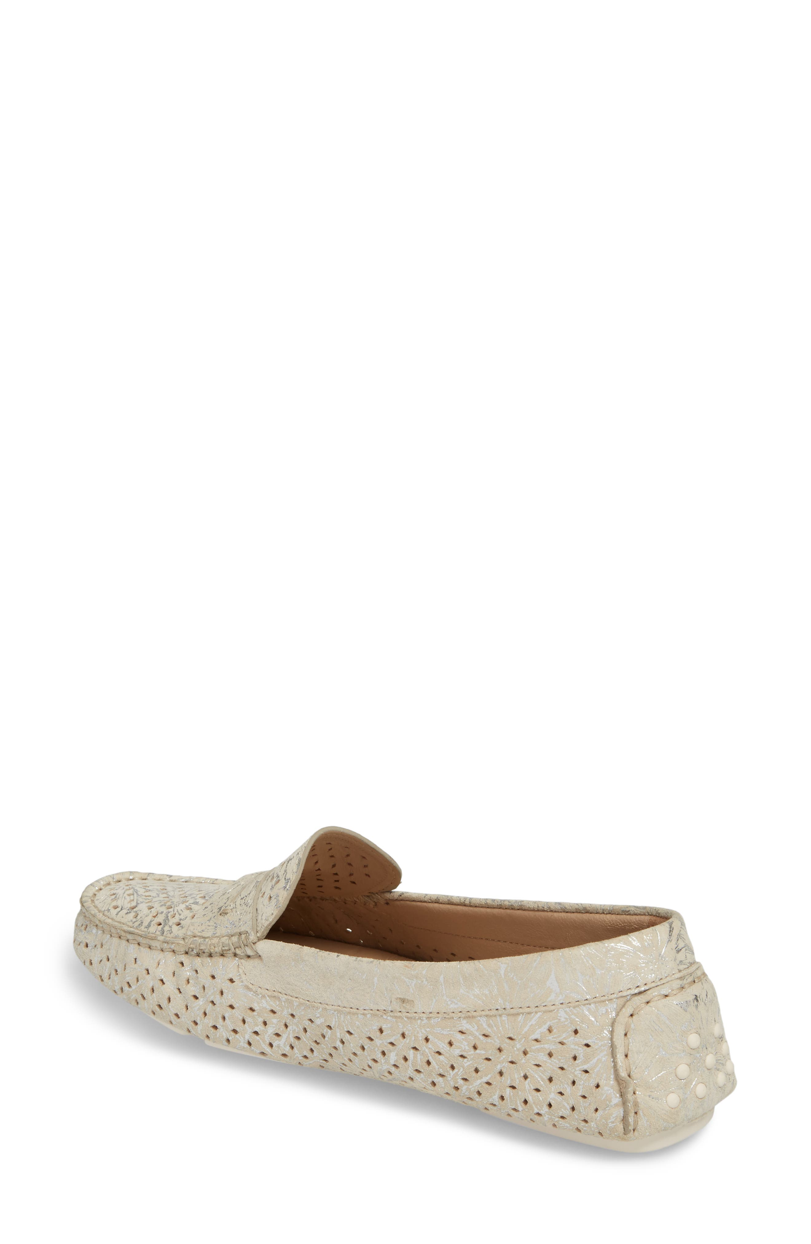 'Maggie' Penny Loafer,                             Alternate thumbnail 2, color,                             Cream Suede