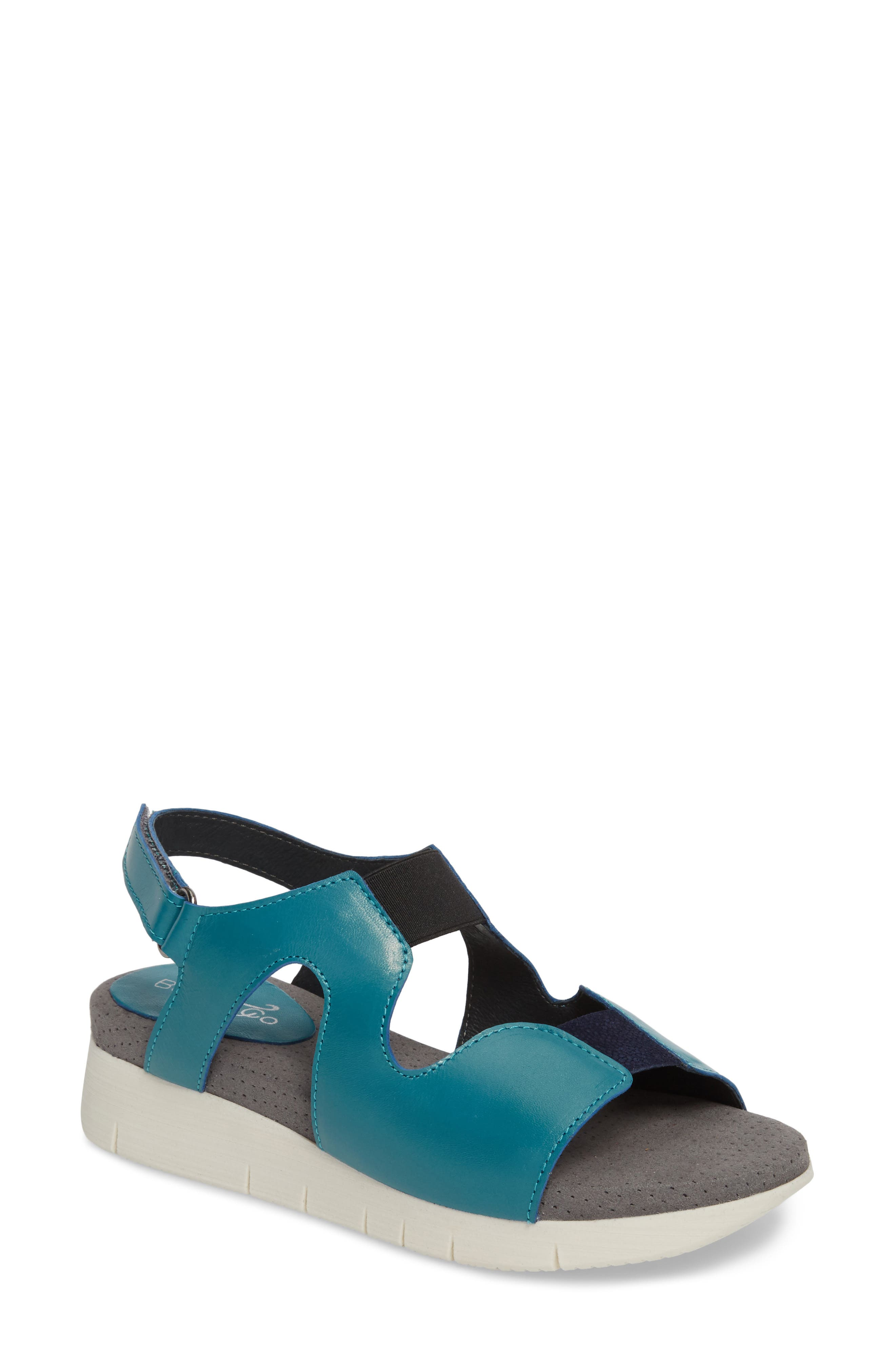 Pori Sandal,                         Main,                         color, Lake Leather