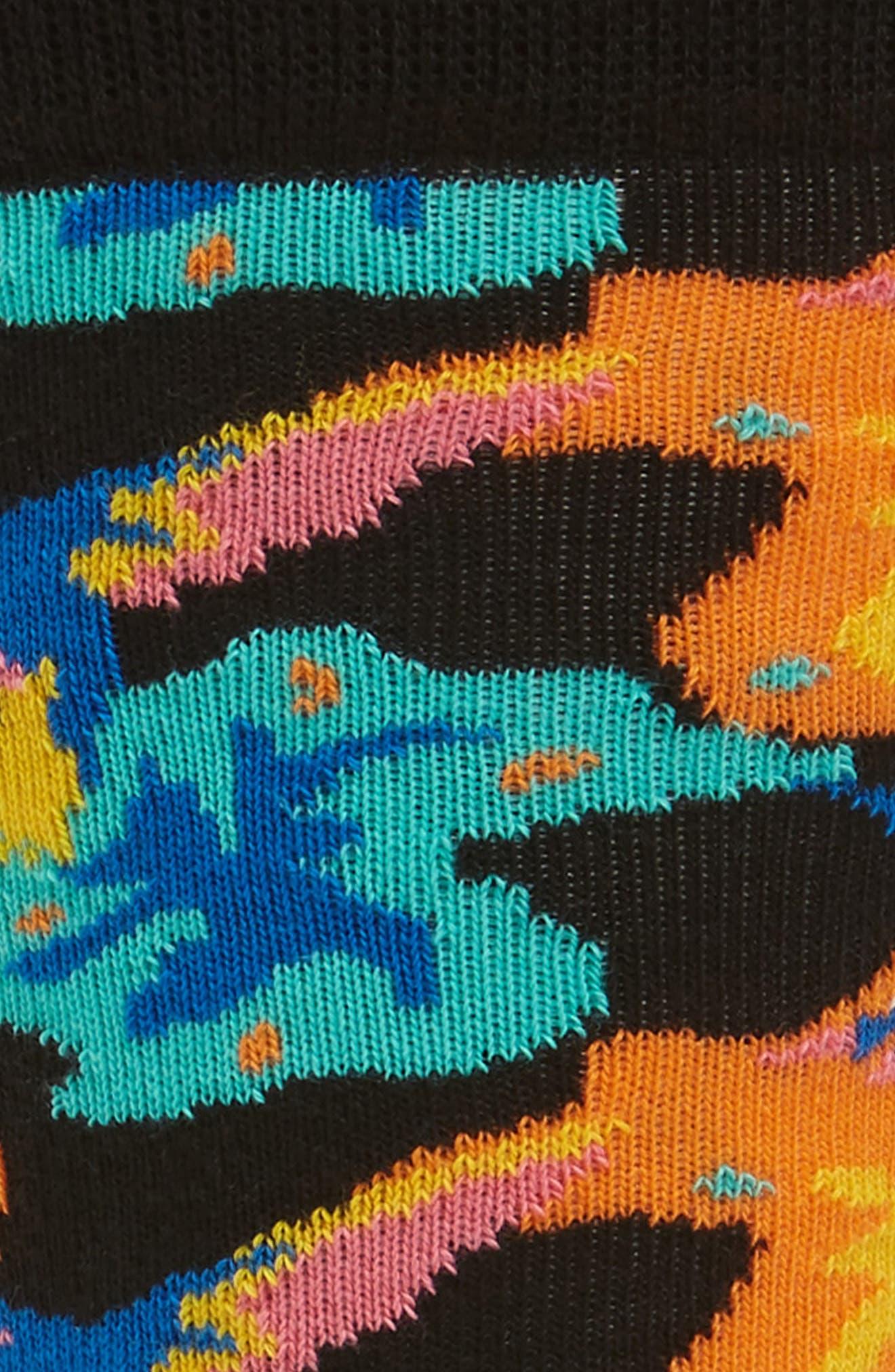 Hummingbird Socks,                             Alternate thumbnail 2, color,                             Black Multi