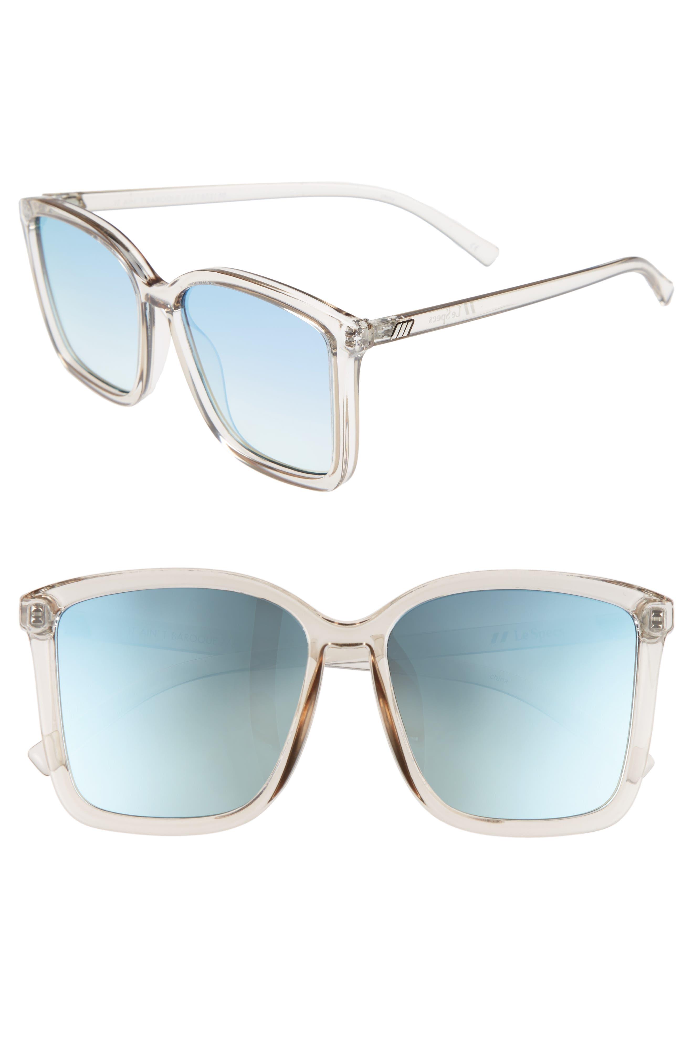 It Ain't Baroque 55mm Sunglasses,                             Main thumbnail 1, color,                             Shadow