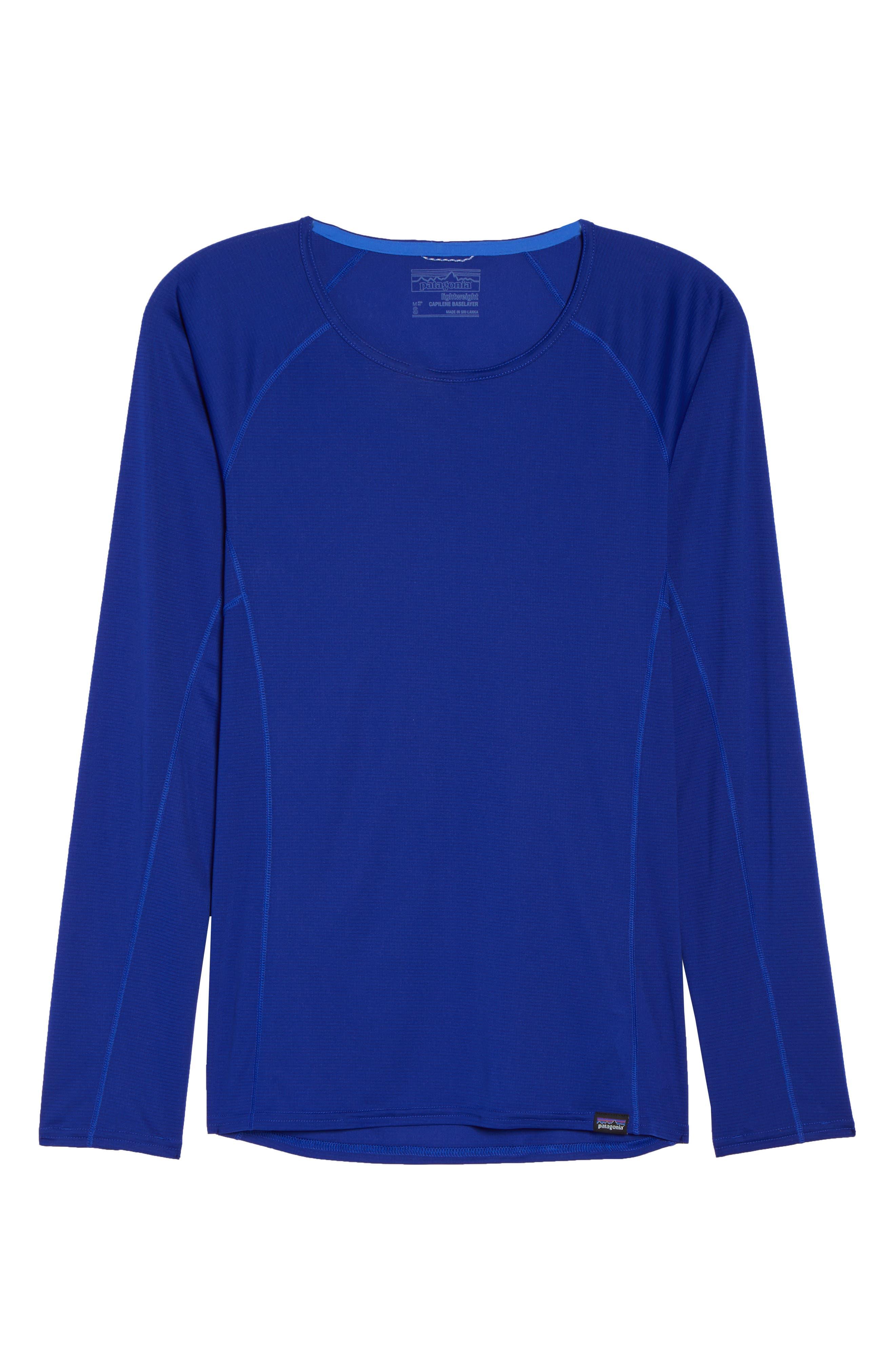 Lightweight Capilene<sup>®</sup> Long-Sleeve Tee,                             Alternate thumbnail 6, color,                             Cobalt Blue