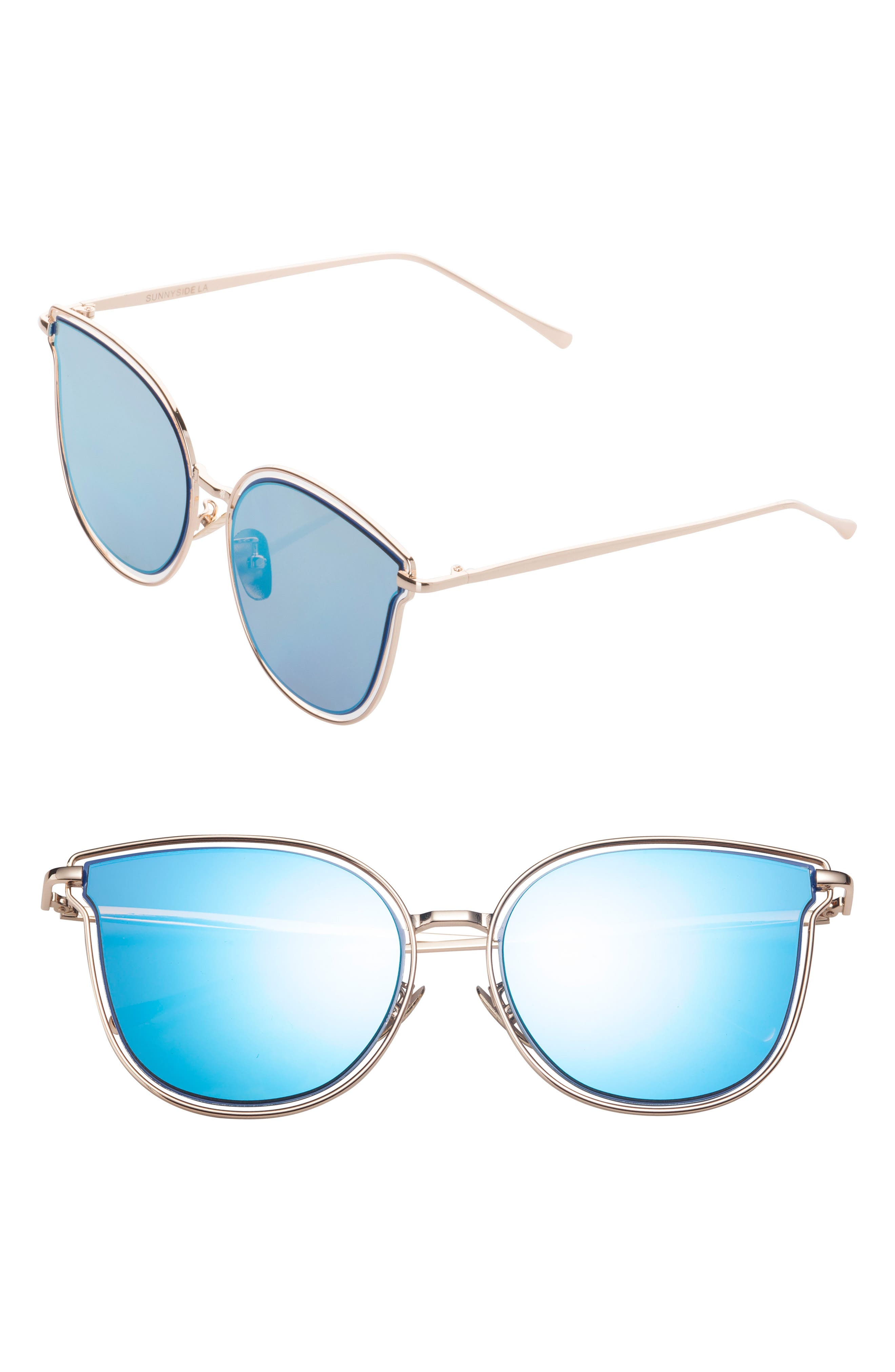 54mm Sunglasses,                             Main thumbnail 1, color,                             Blue/ Gold