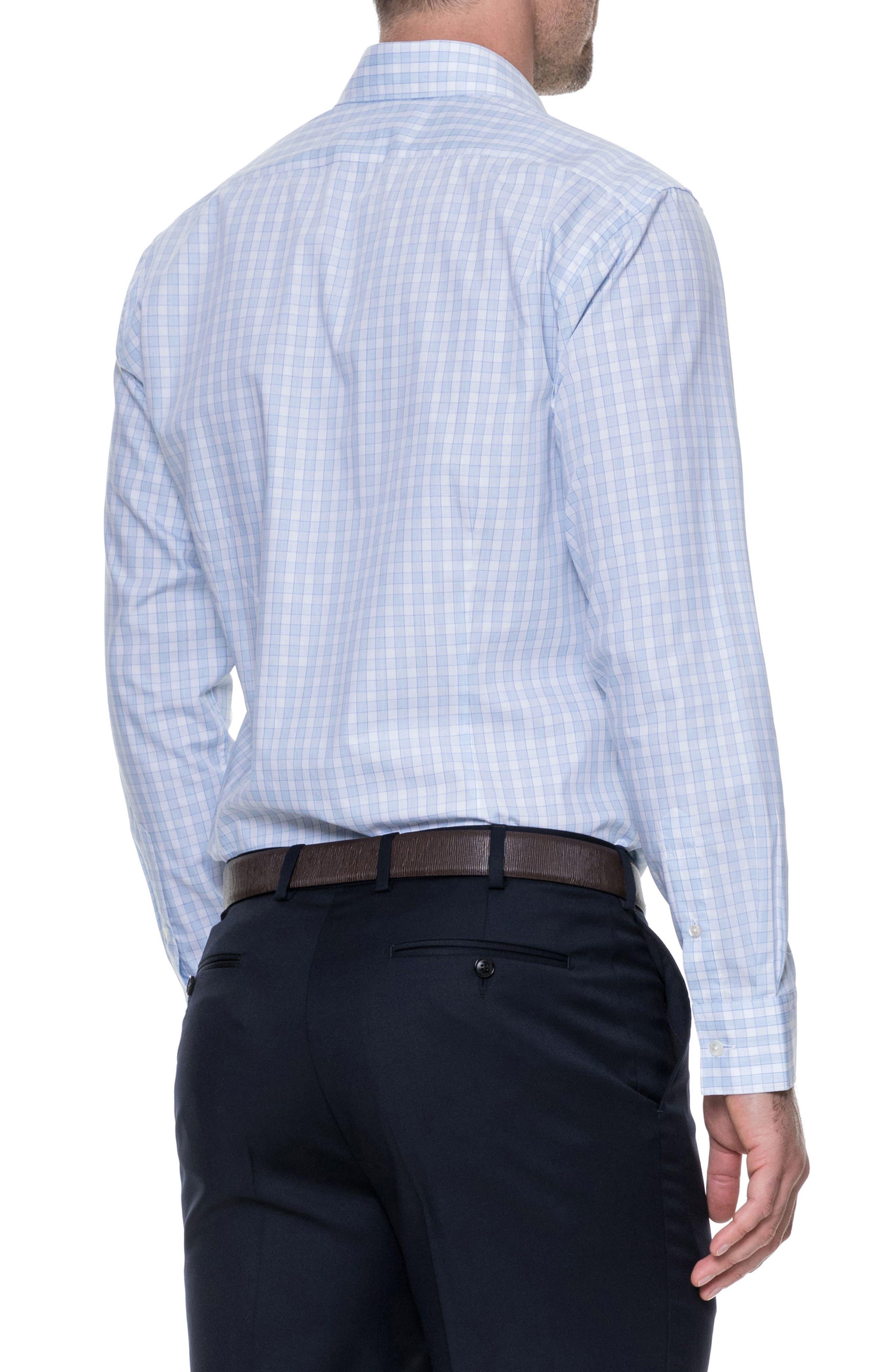 Brackley Slim Fit Sport Shirt,                             Alternate thumbnail 3, color,                             Sky