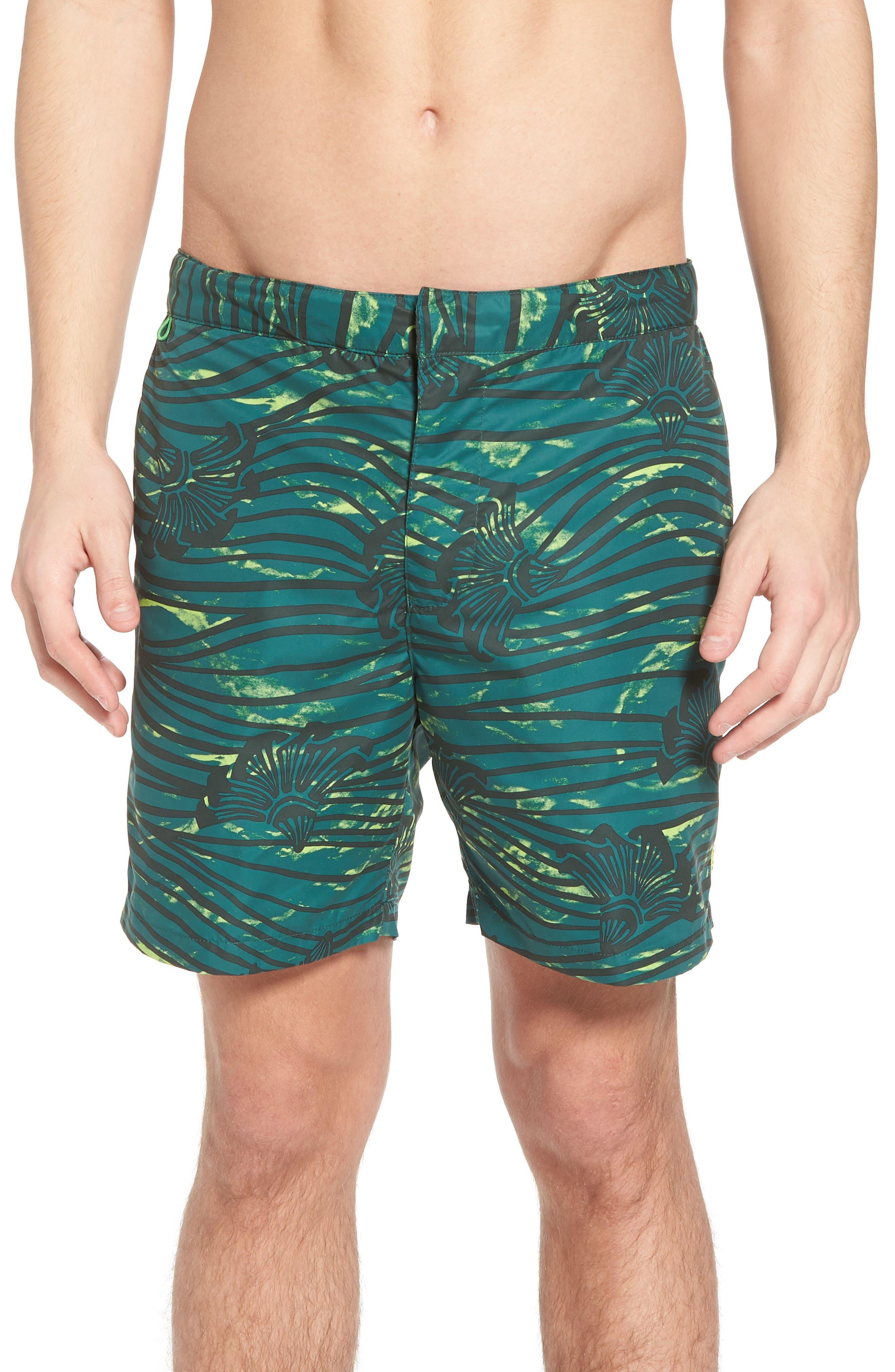 Patterned Board Shorts,                         Main,                         color, Combo E