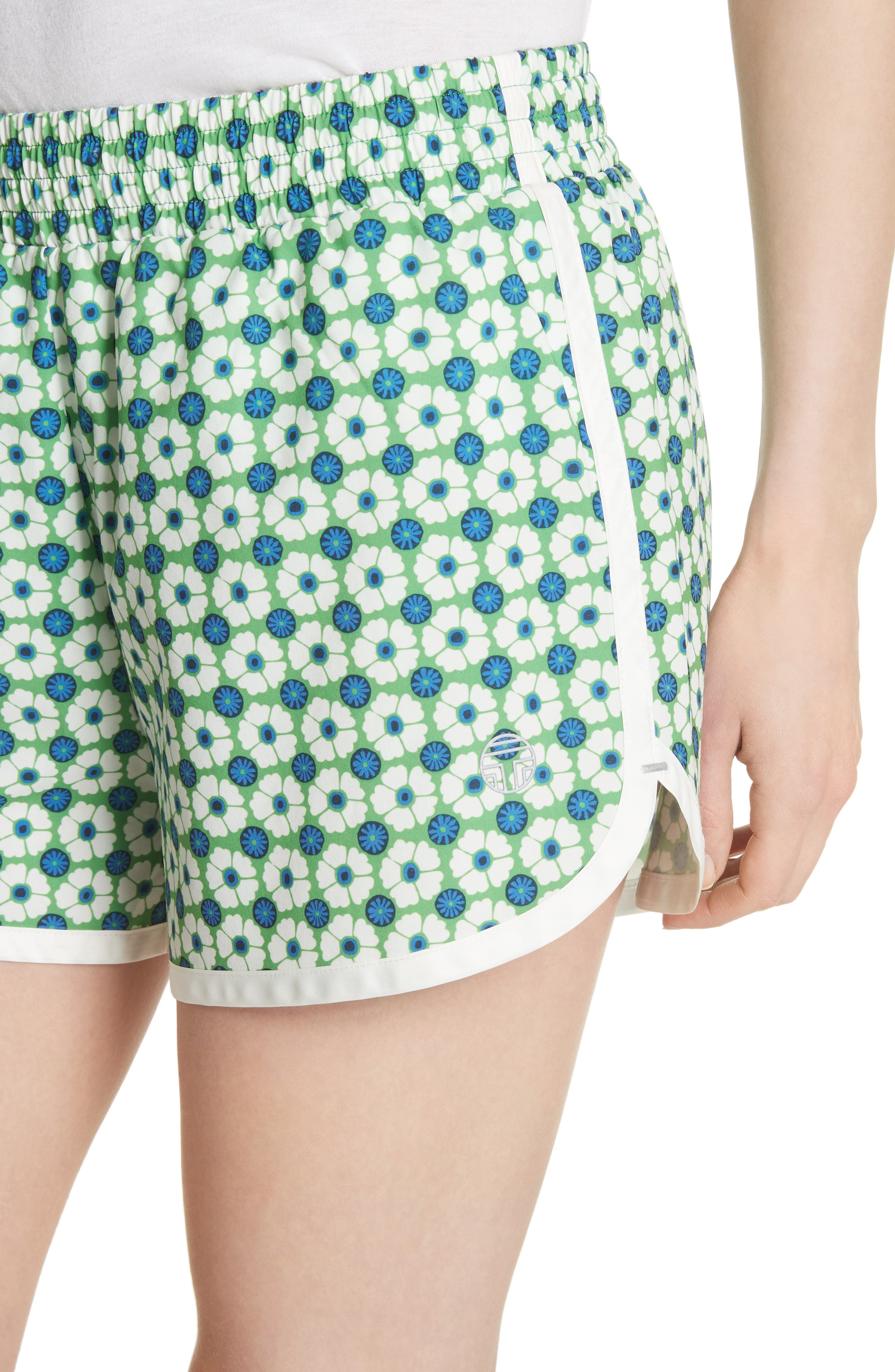 Print Running Shorts,                             Alternate thumbnail 4, color,                             Scarf Blue Floral