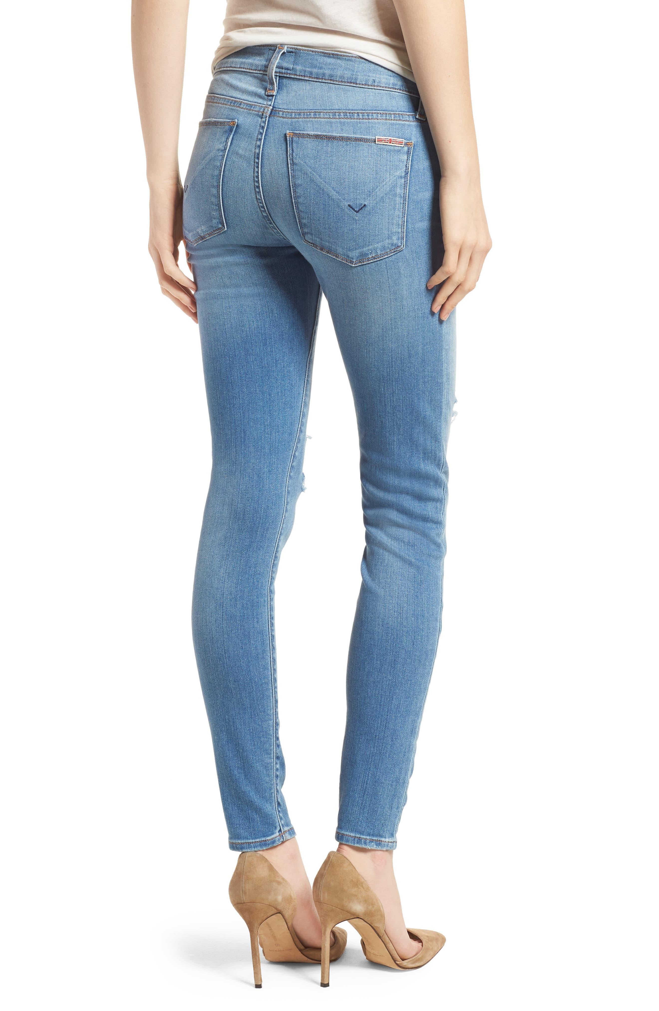 Krista Ankle Super Skinny Jeans,                             Alternate thumbnail 2, color,                             No Tears