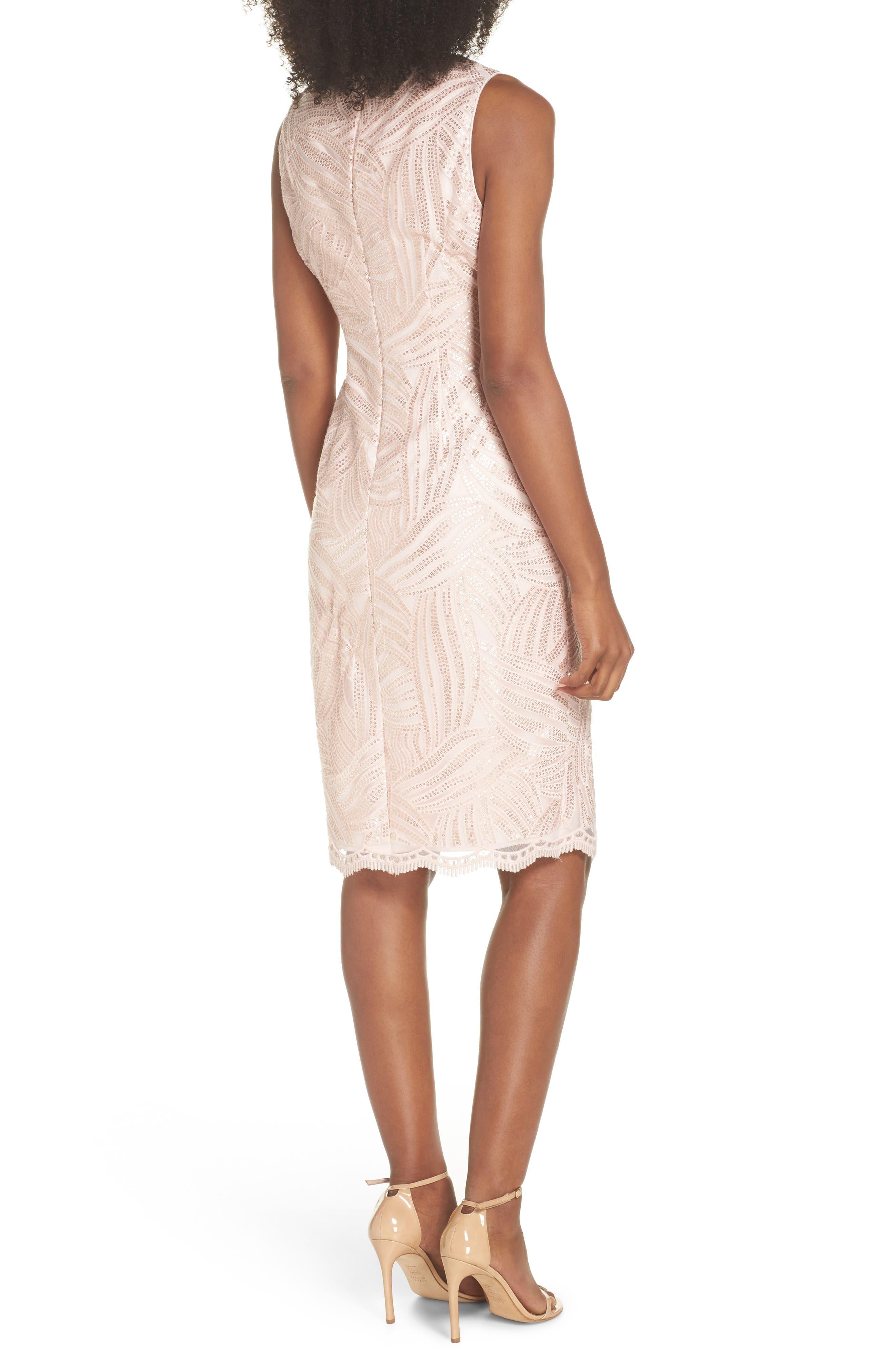 Sleeveless Sequin Sheath Dress,                             Alternate thumbnail 2, color,                             Light Pink