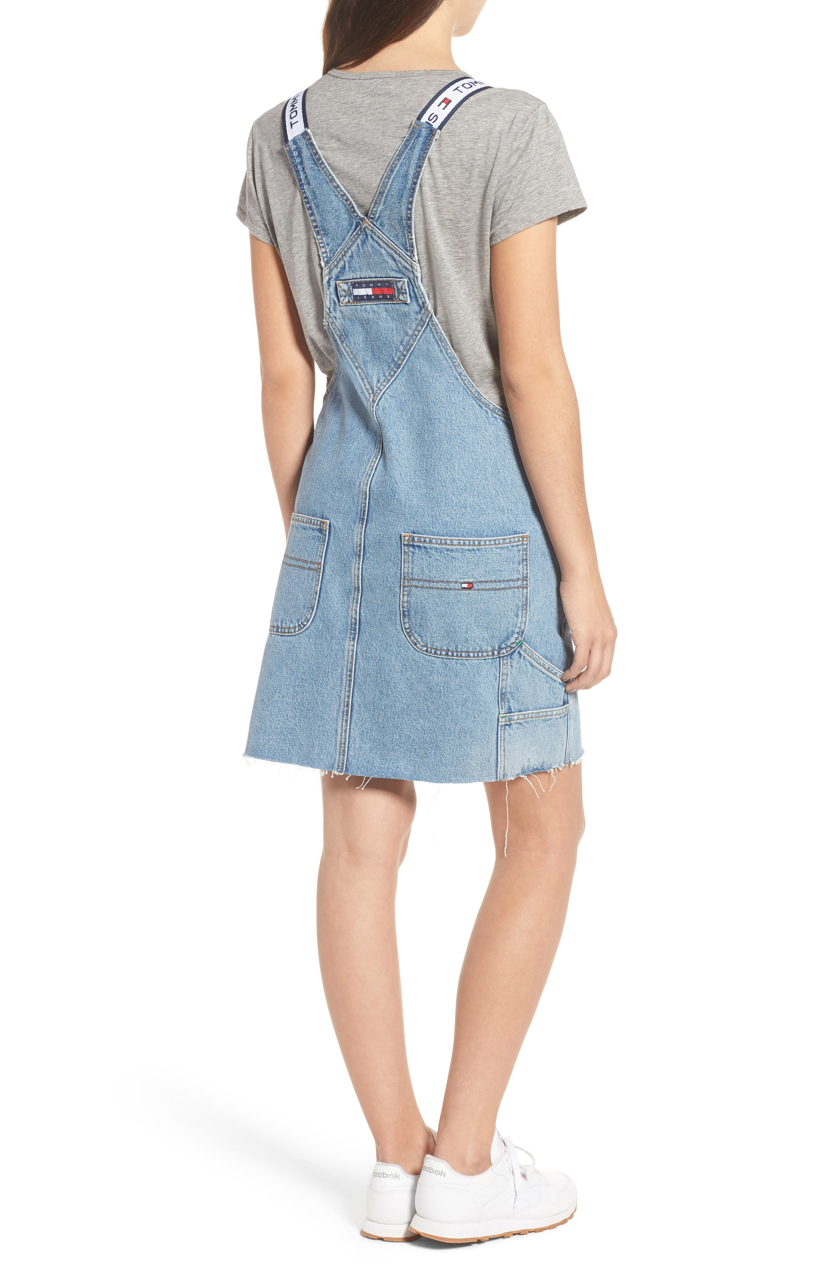 Dunagree Dress,                             Alternate thumbnail 2, color,                             Light Denim Blue