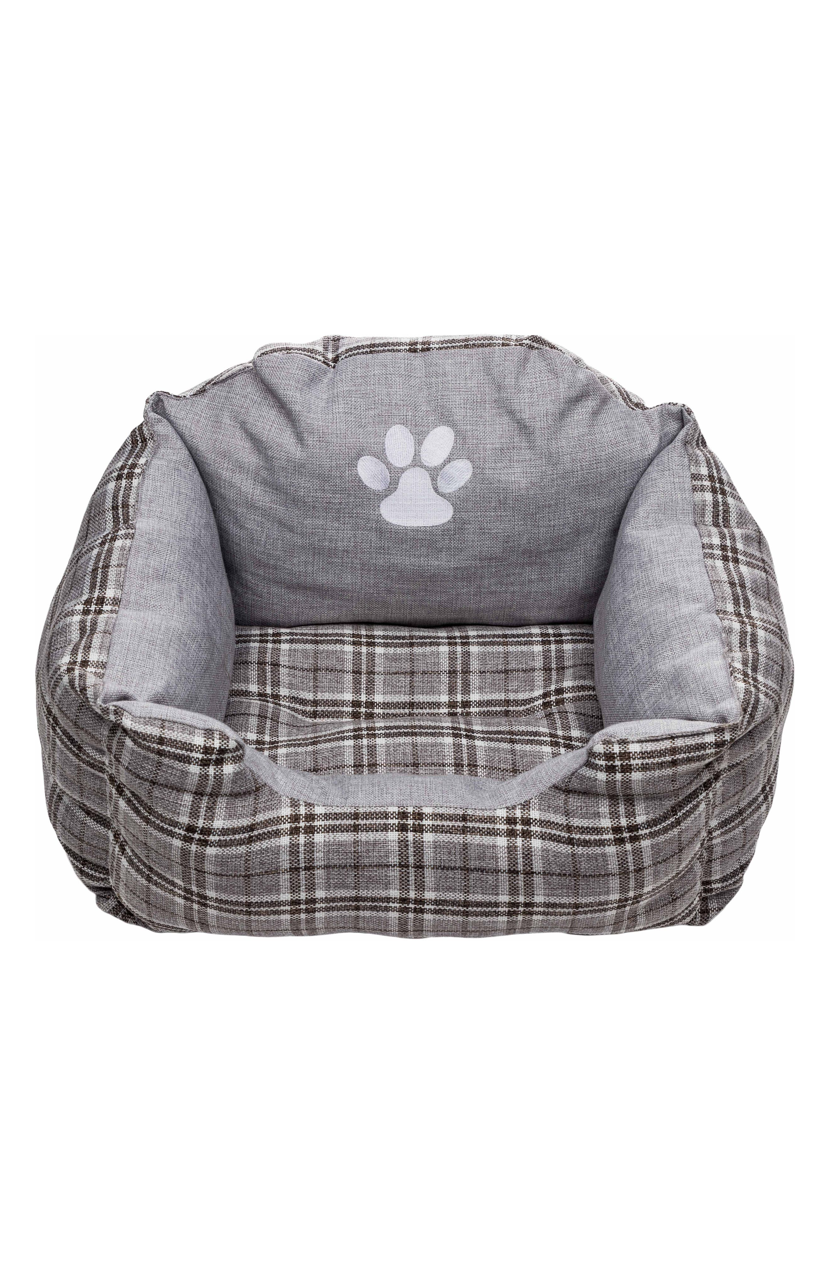 Harlee Small Square Pet Bed,                         Main,                         color, Grey