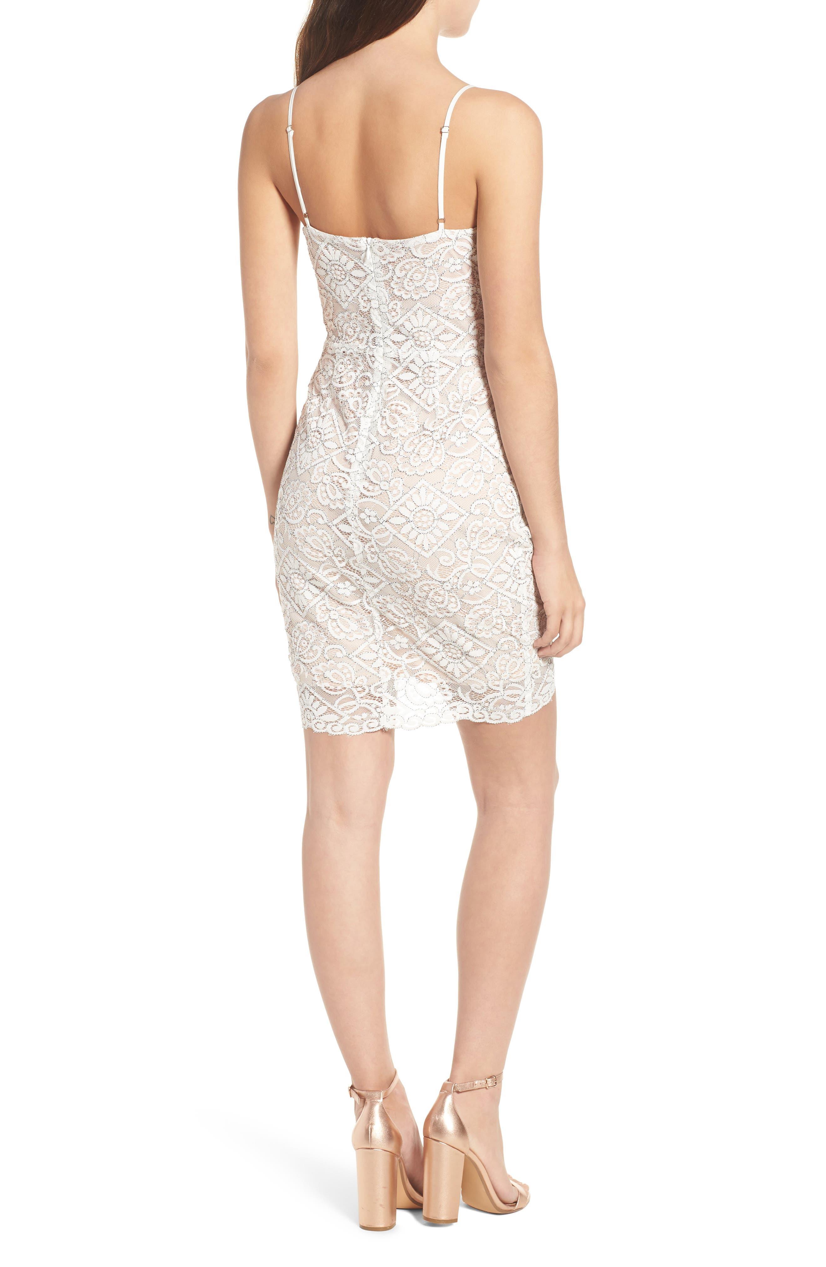 Lace Minidress,                             Alternate thumbnail 2, color,                             Ivory