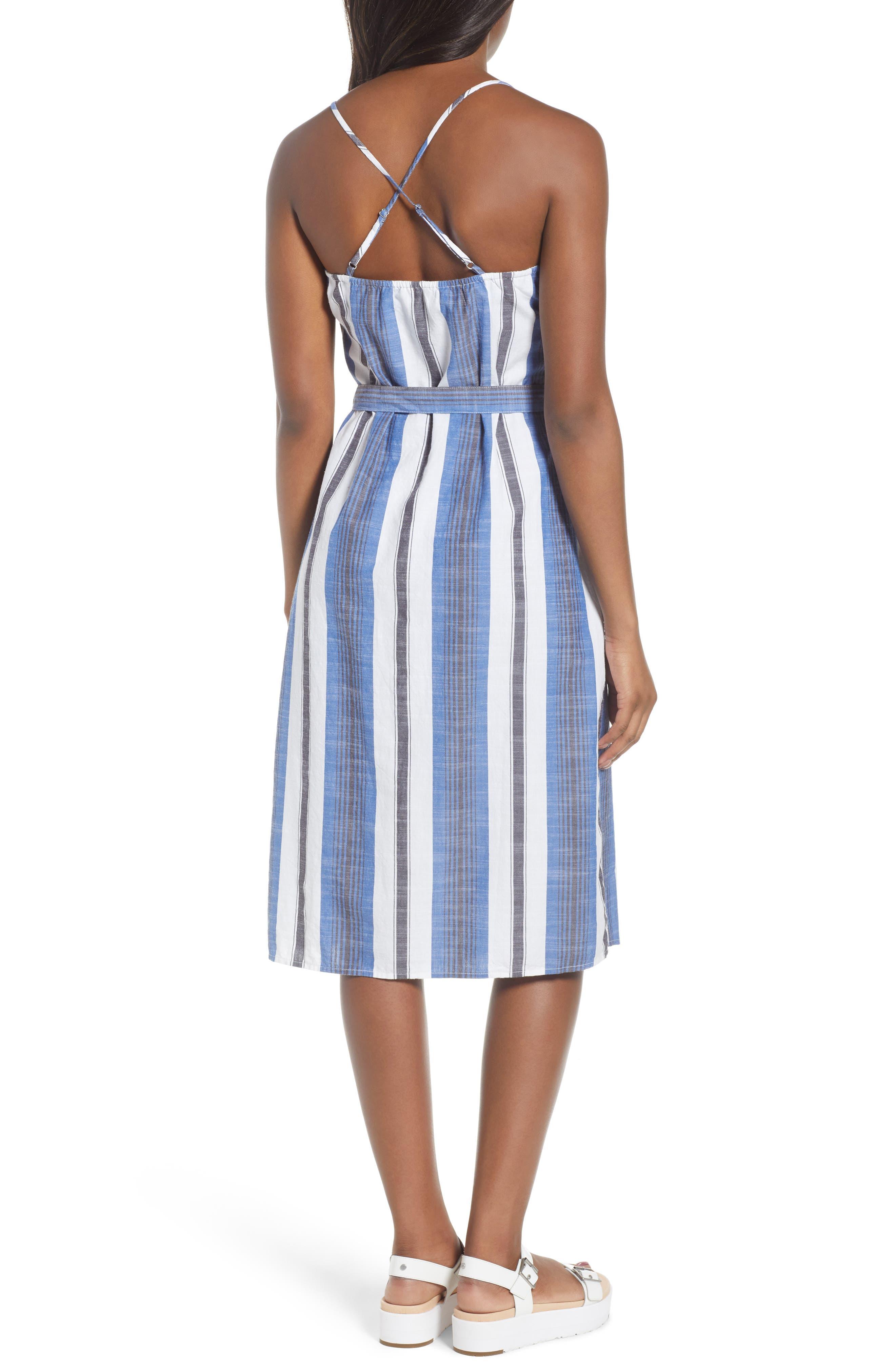 Stripe Cotton Sundress,                             Alternate thumbnail 2, color,                             Blue Multi