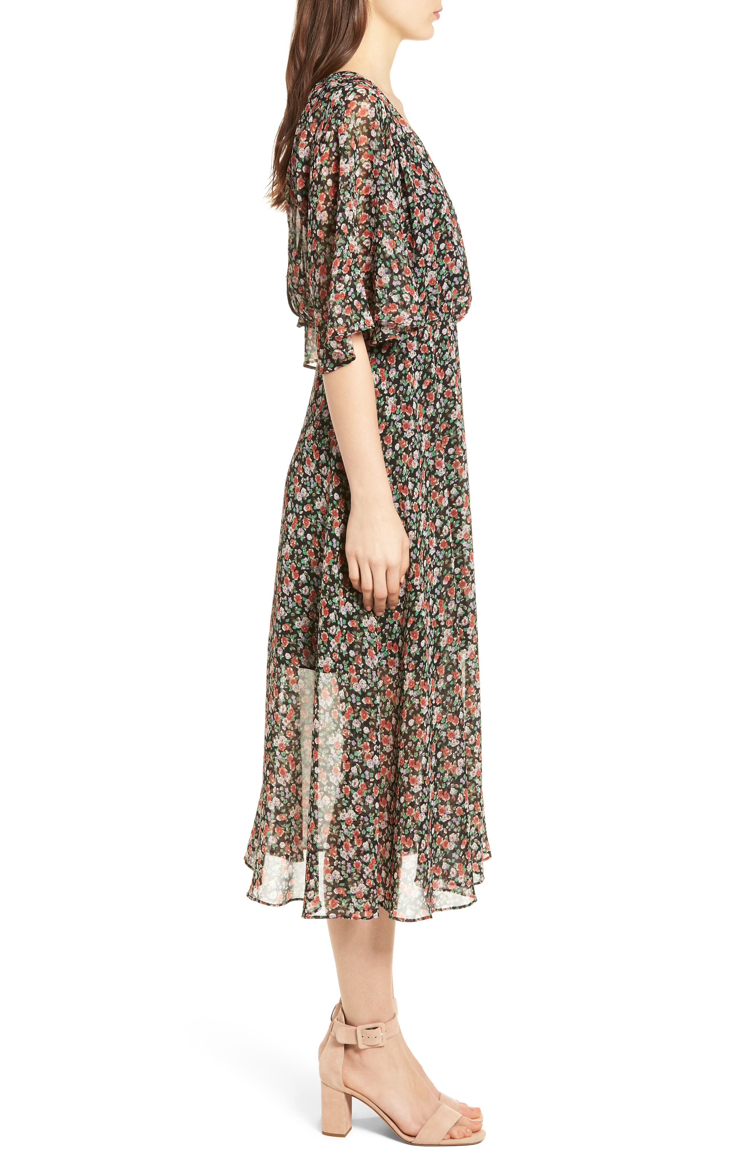 Ali Dress,                             Alternate thumbnail 3, color,                             Black Multi