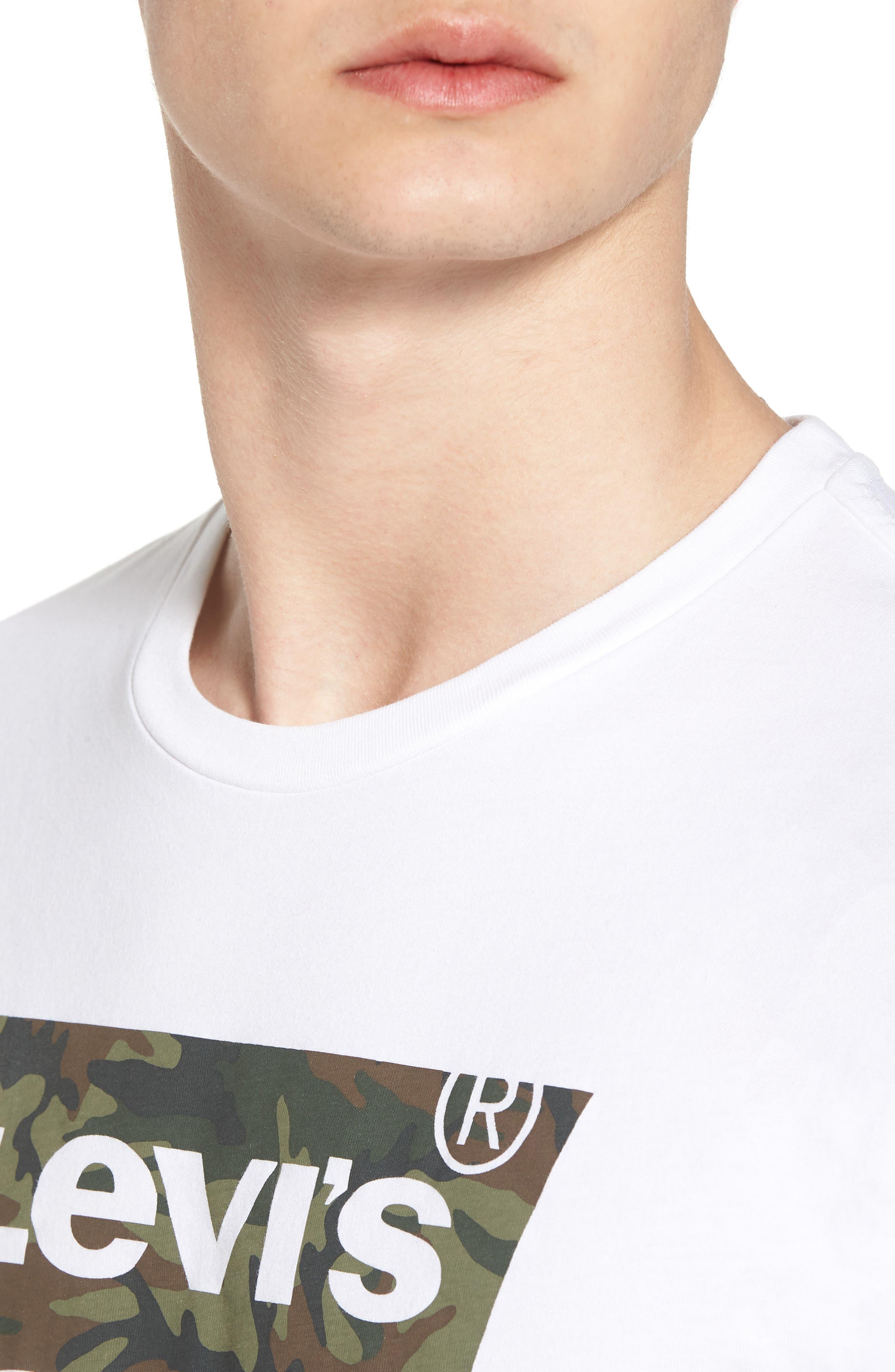 Housemark Graphic T-Shirt,                             Alternate thumbnail 4, color,                             Housemark White