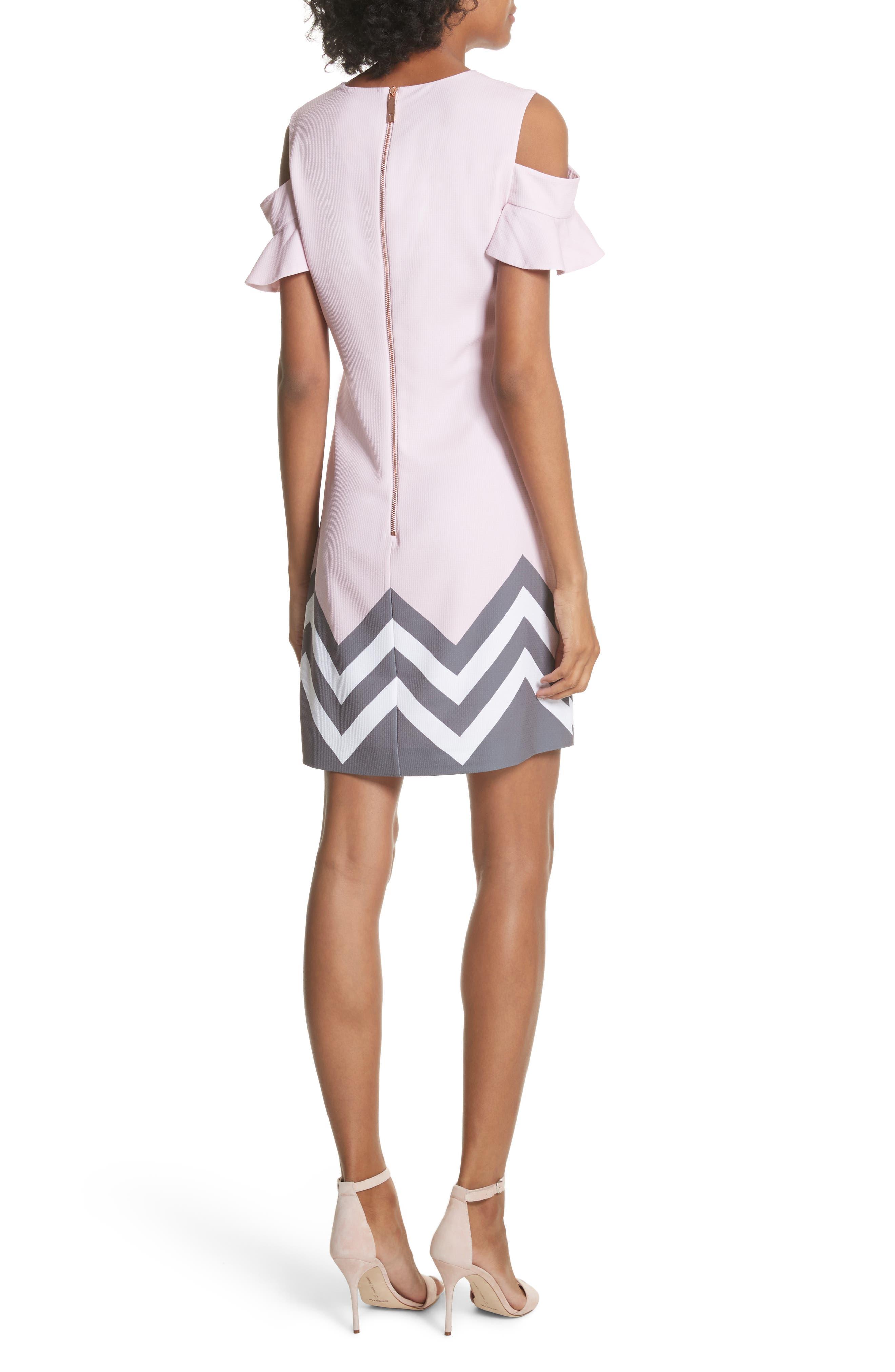 Jareye Cutout Tunic Dress,                             Alternate thumbnail 2, color,                             Dusky Pink