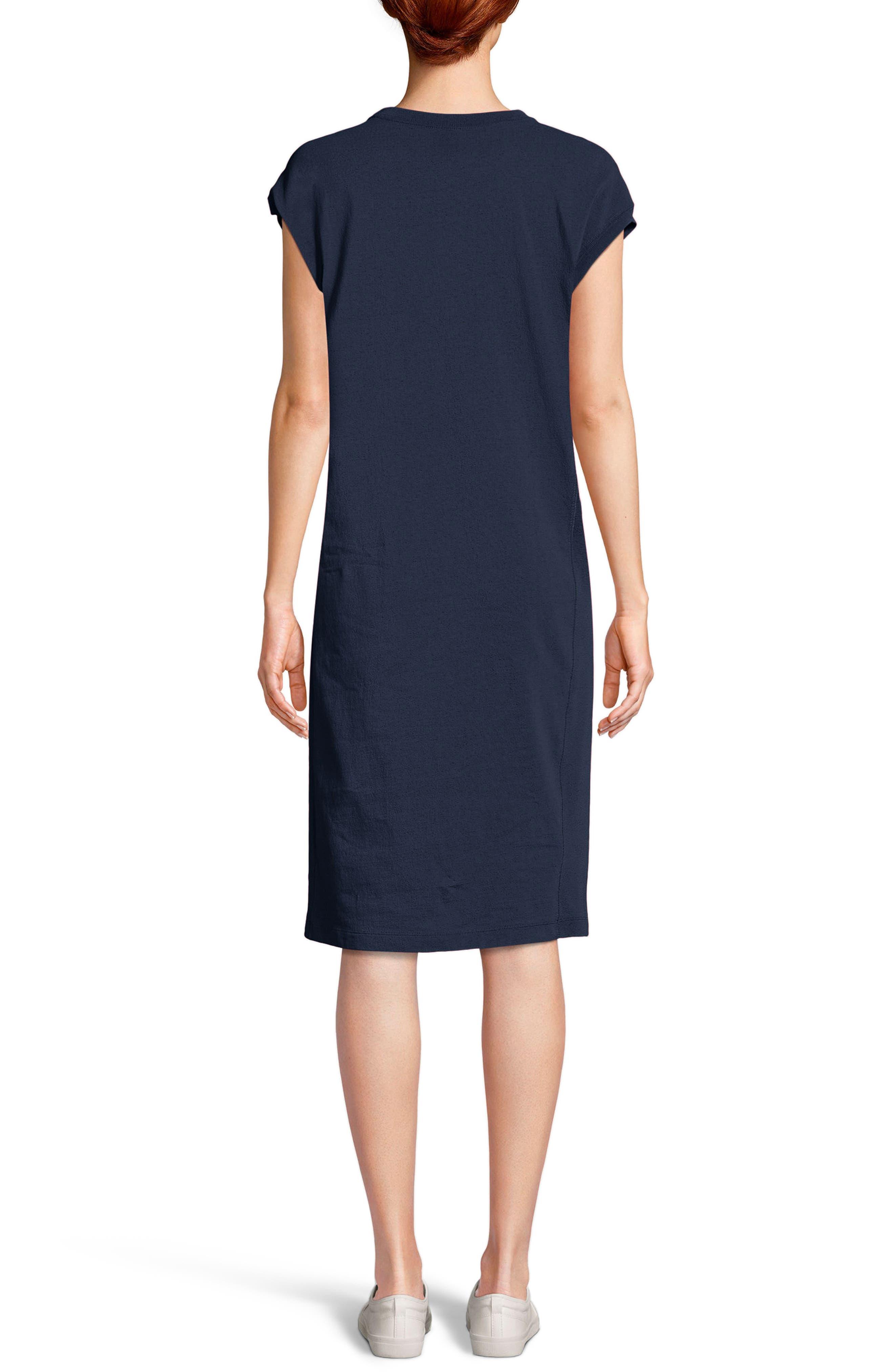 Heavyweight Jersey T-Shirt Dress,                             Alternate thumbnail 2, color,                             Navy