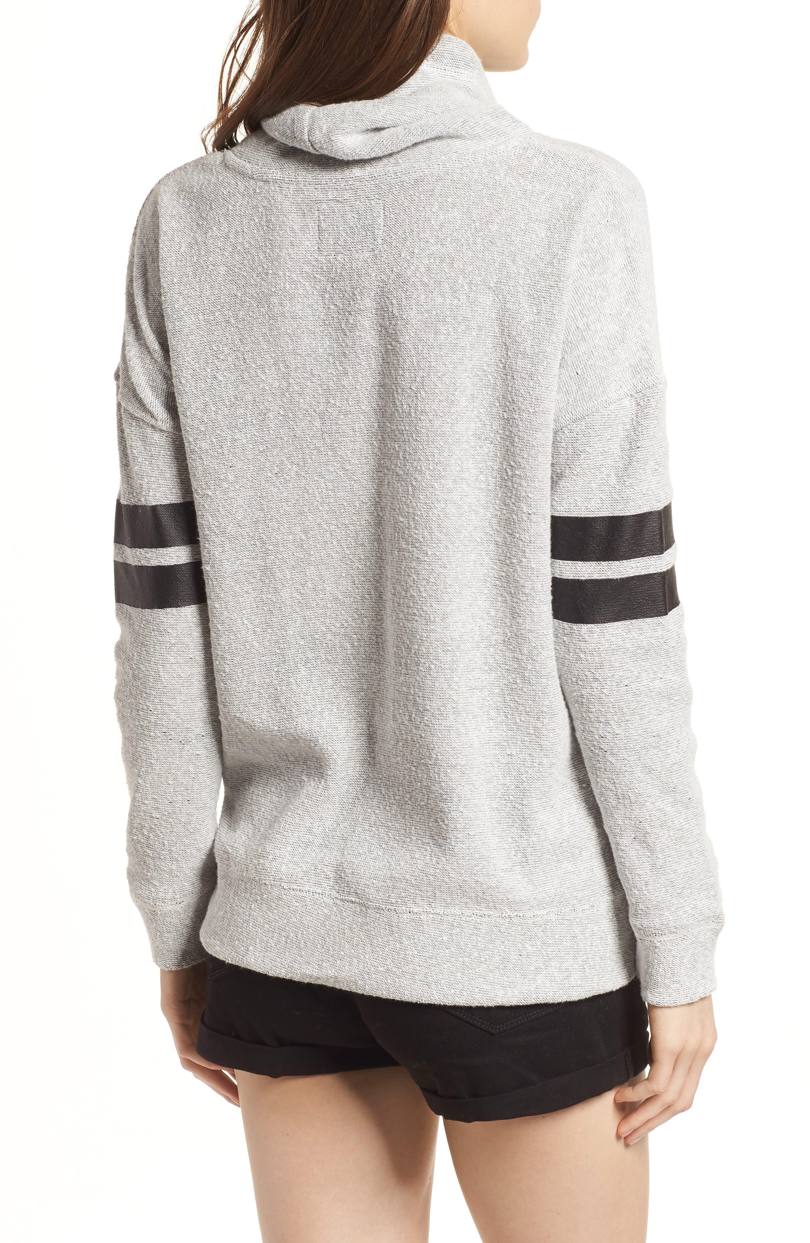 Offsides San Francisco Giants Funnel Neck Sweatshirt,                             Alternate thumbnail 2, color,                             Pumice Grey