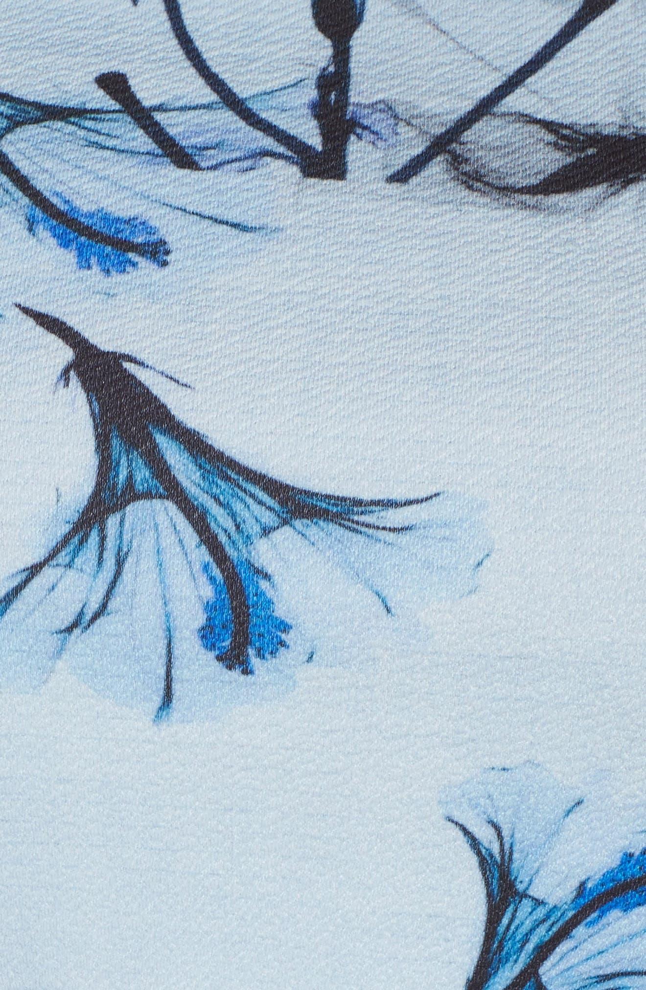 Tie Shoulder A-Line Dress,                             Alternate thumbnail 6, color,                             Multi