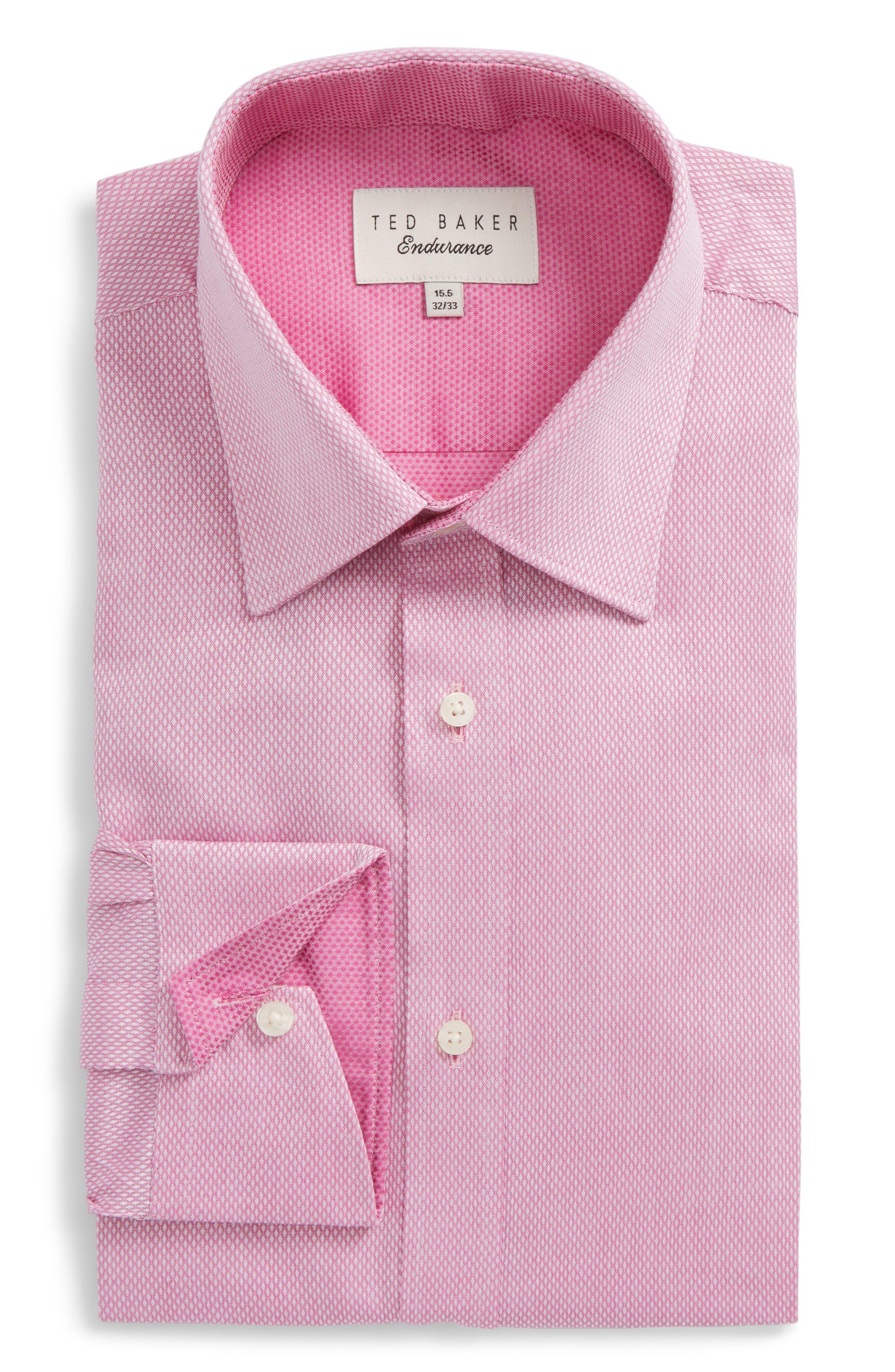 Lavindr Endurance Trim Fit Solid Dress Shirt,                             Main thumbnail 1, color,                             Pink